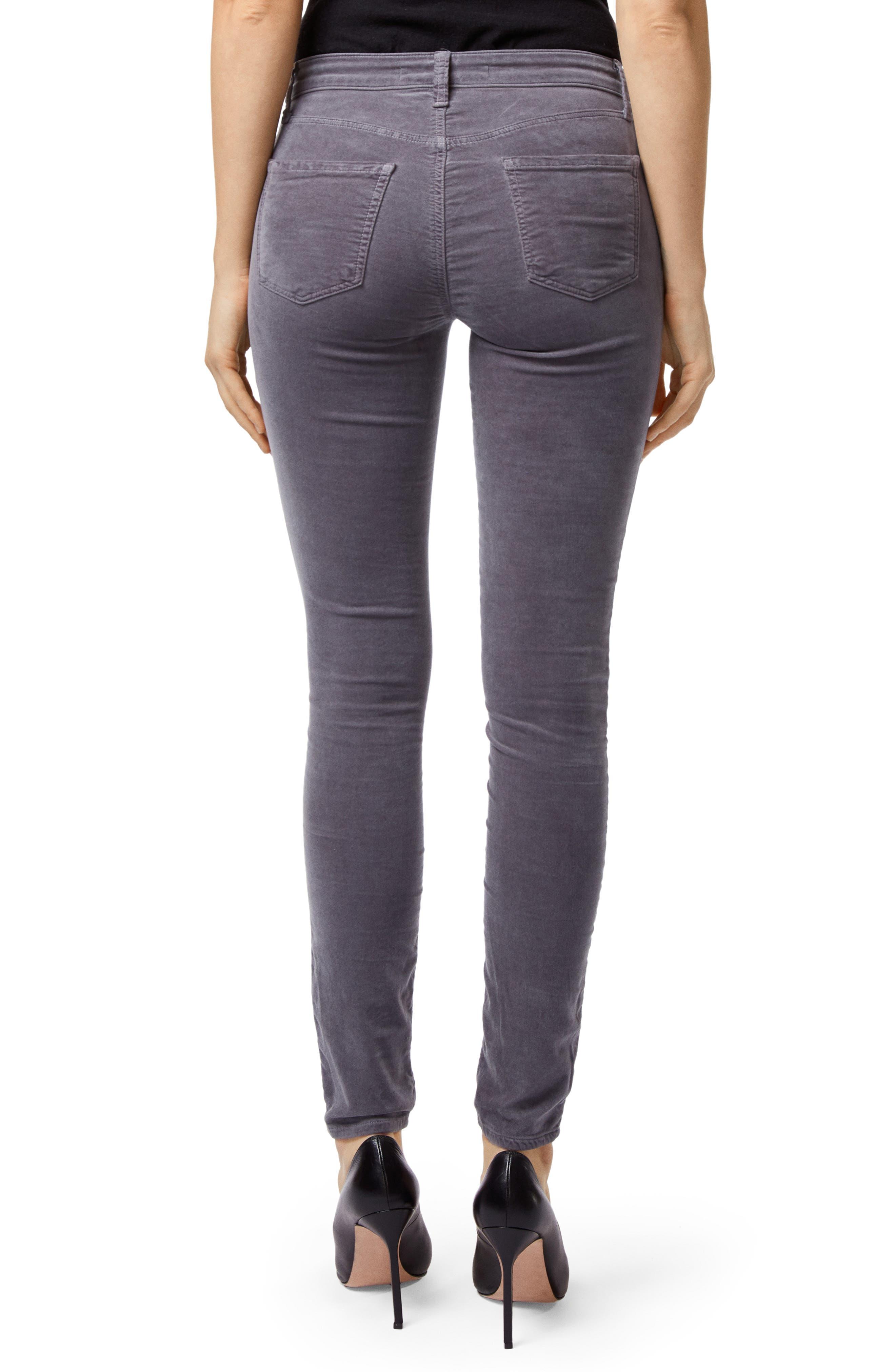 '815' Mid Rise Velveteen Super Skinny Jeans,                             Alternate thumbnail 2, color,                             030