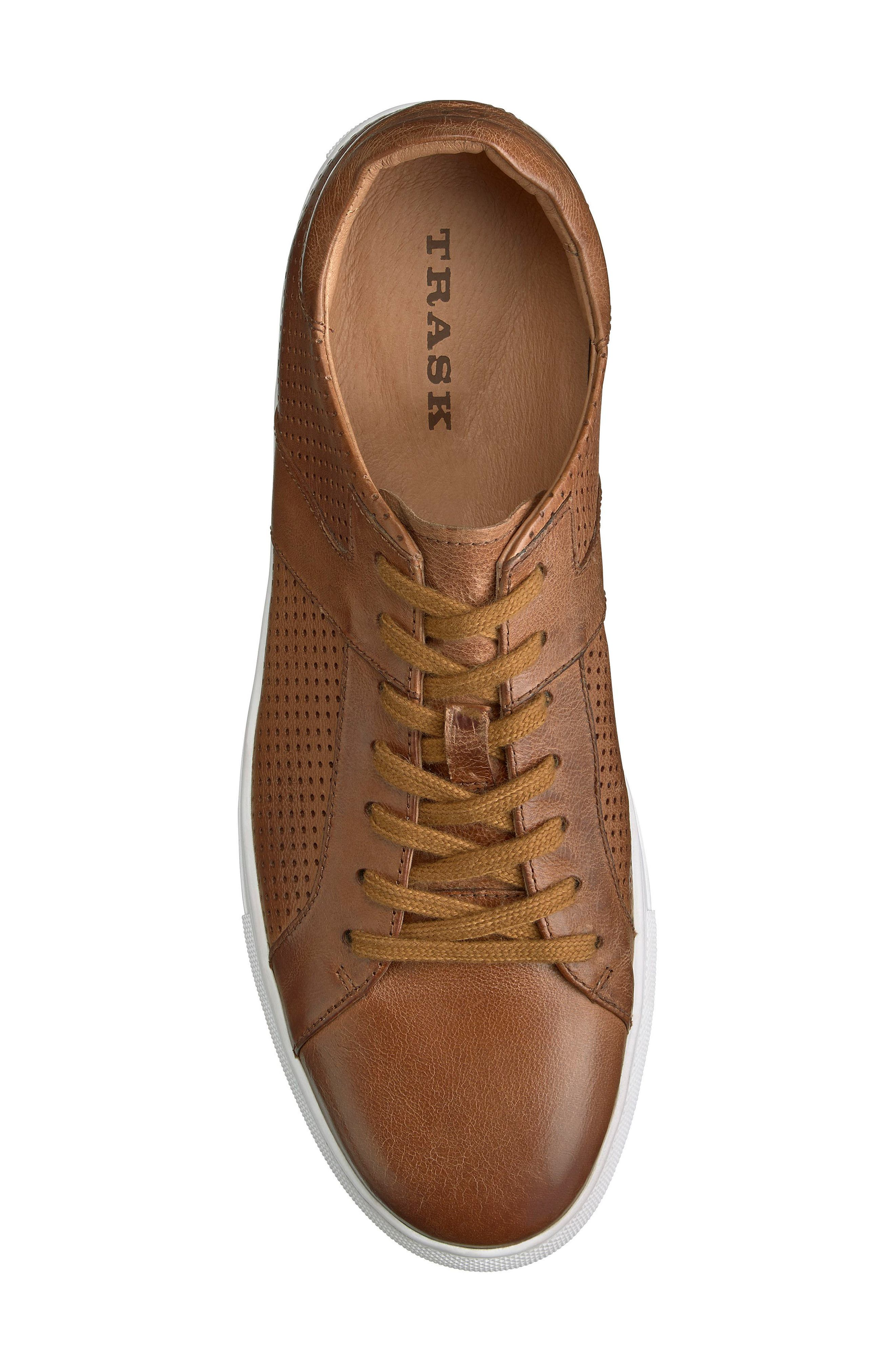 Aaron Sneaker,                             Alternate thumbnail 4, color,                             TAN LEATHER