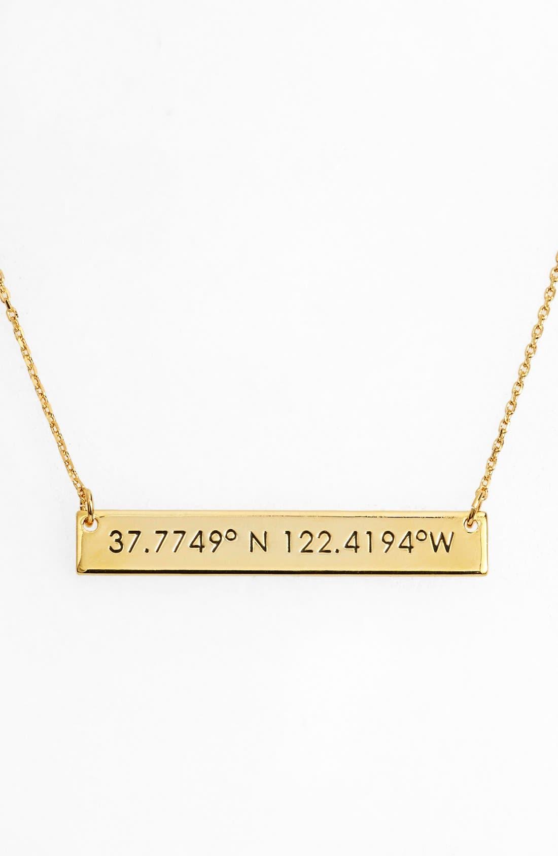 Coordinate Bar Pendant Necklace,                             Main thumbnail 7, color,