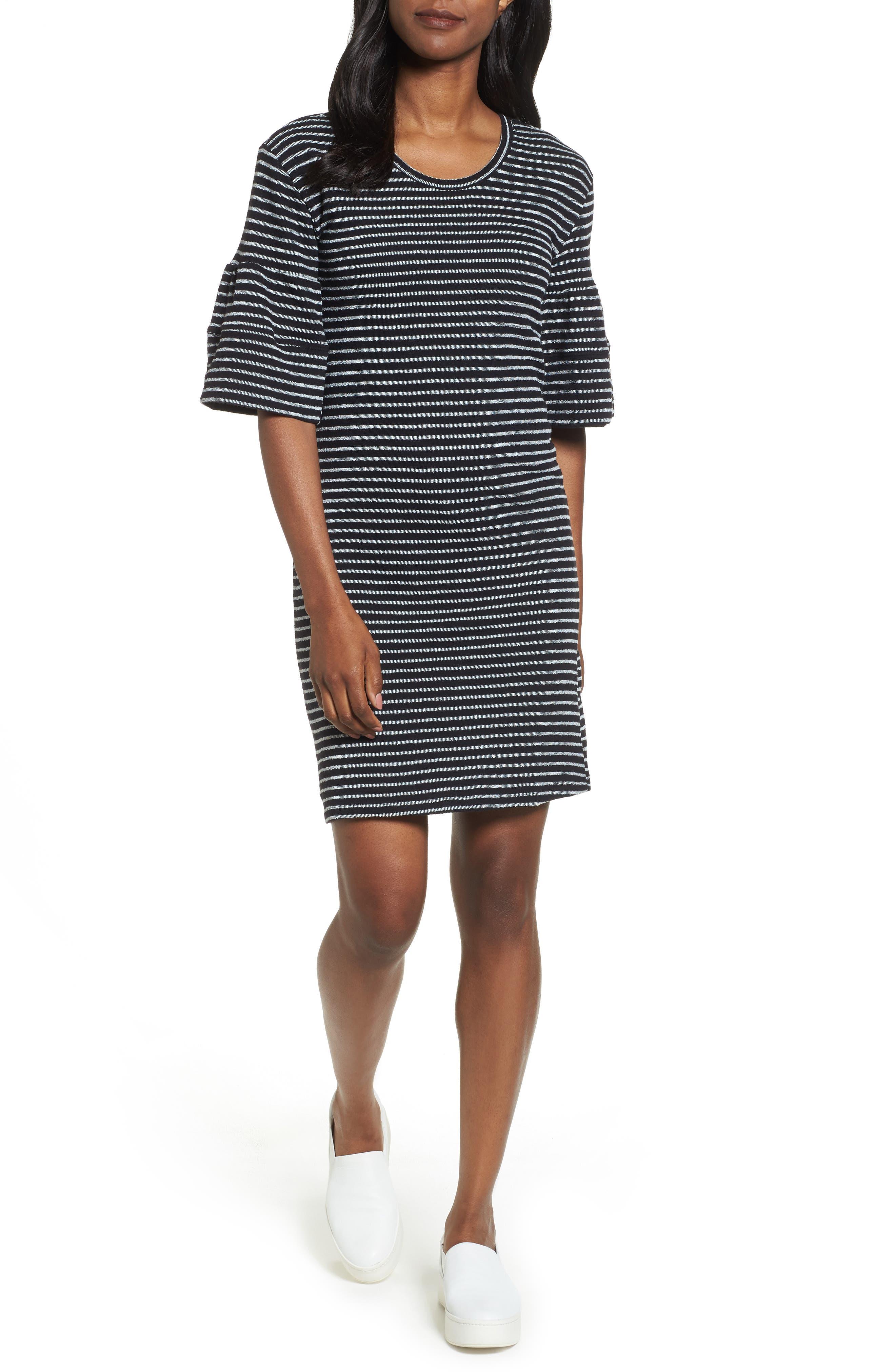 Ruffle Sleeve Knit Dress,                             Main thumbnail 2, color,