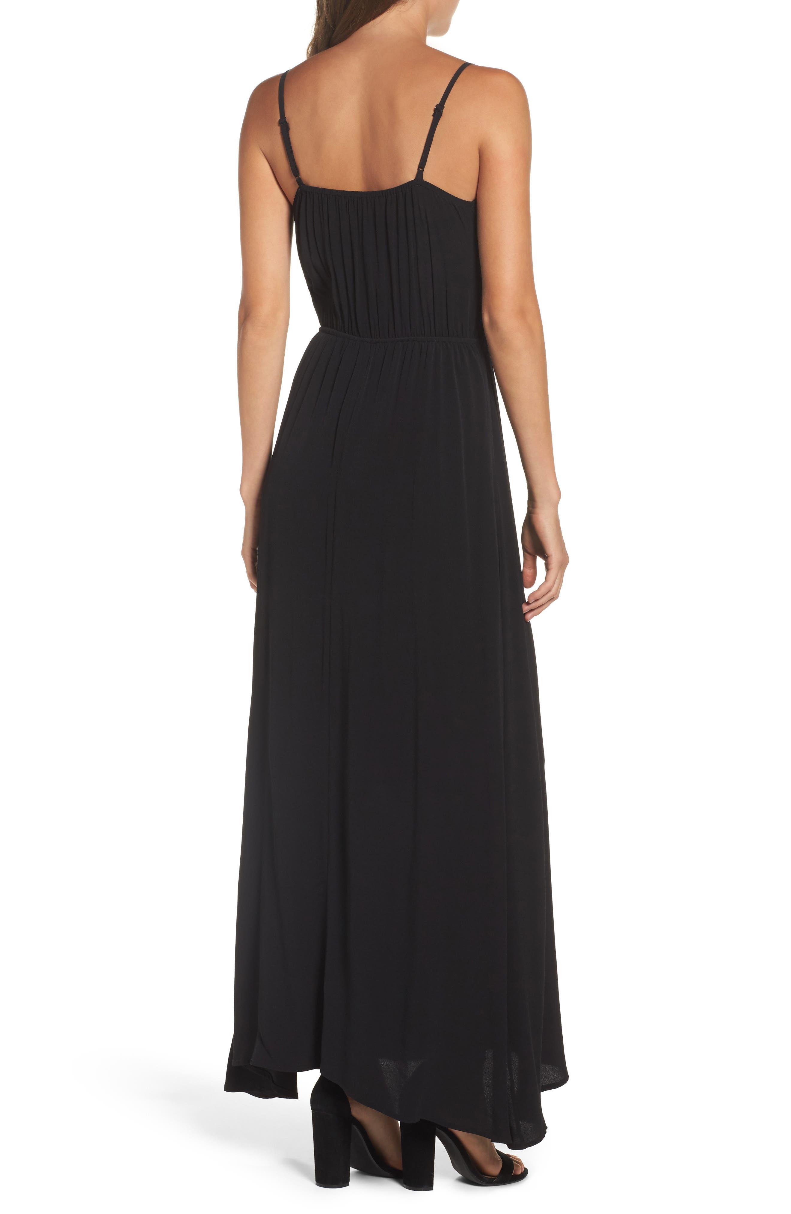 Blouson Maxi Dress,                             Alternate thumbnail 2, color,                             BLACK
