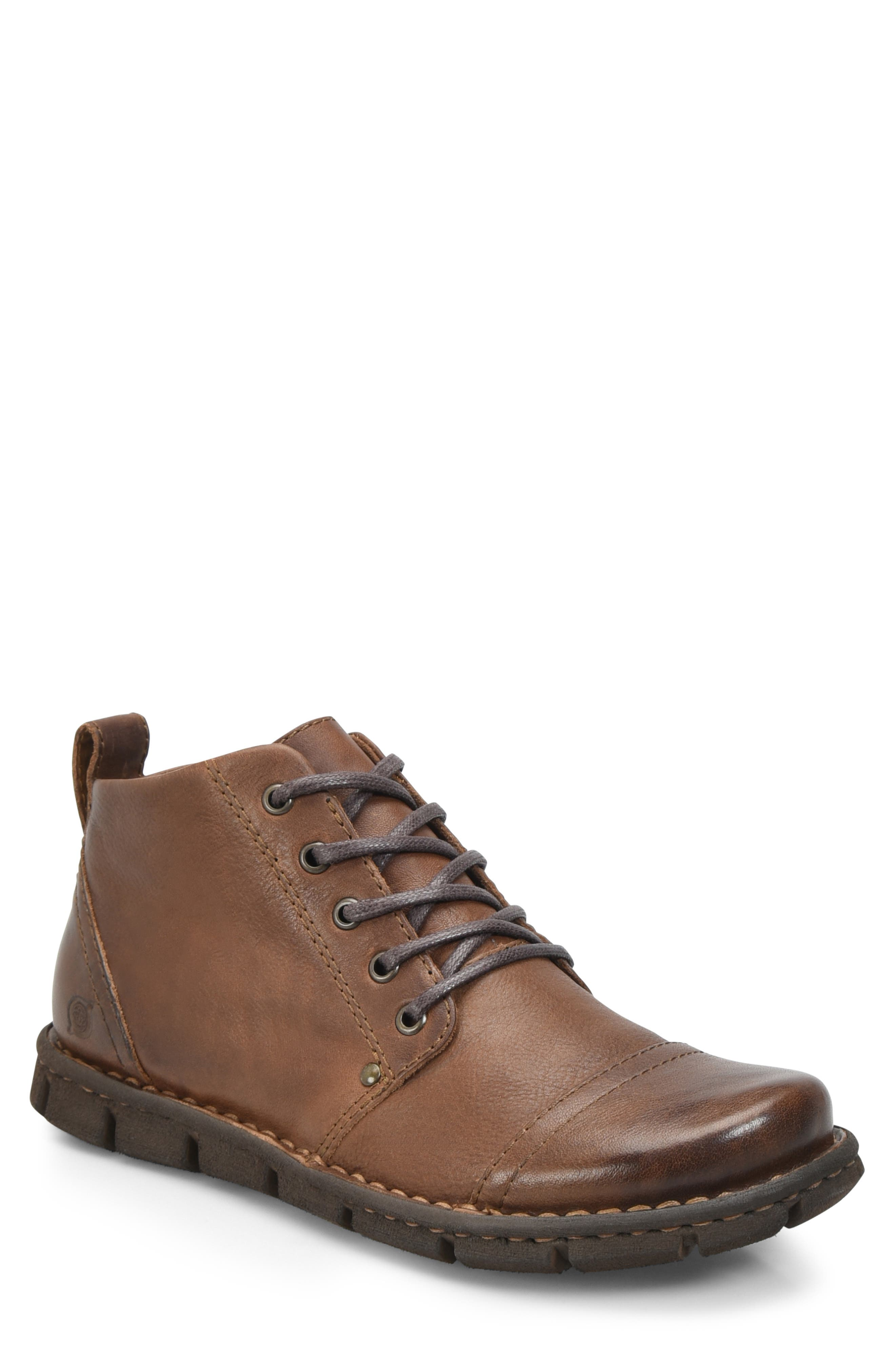 Boulder Cap Toe Boot,                             Main thumbnail 1, color,                             BROWN LEATHER