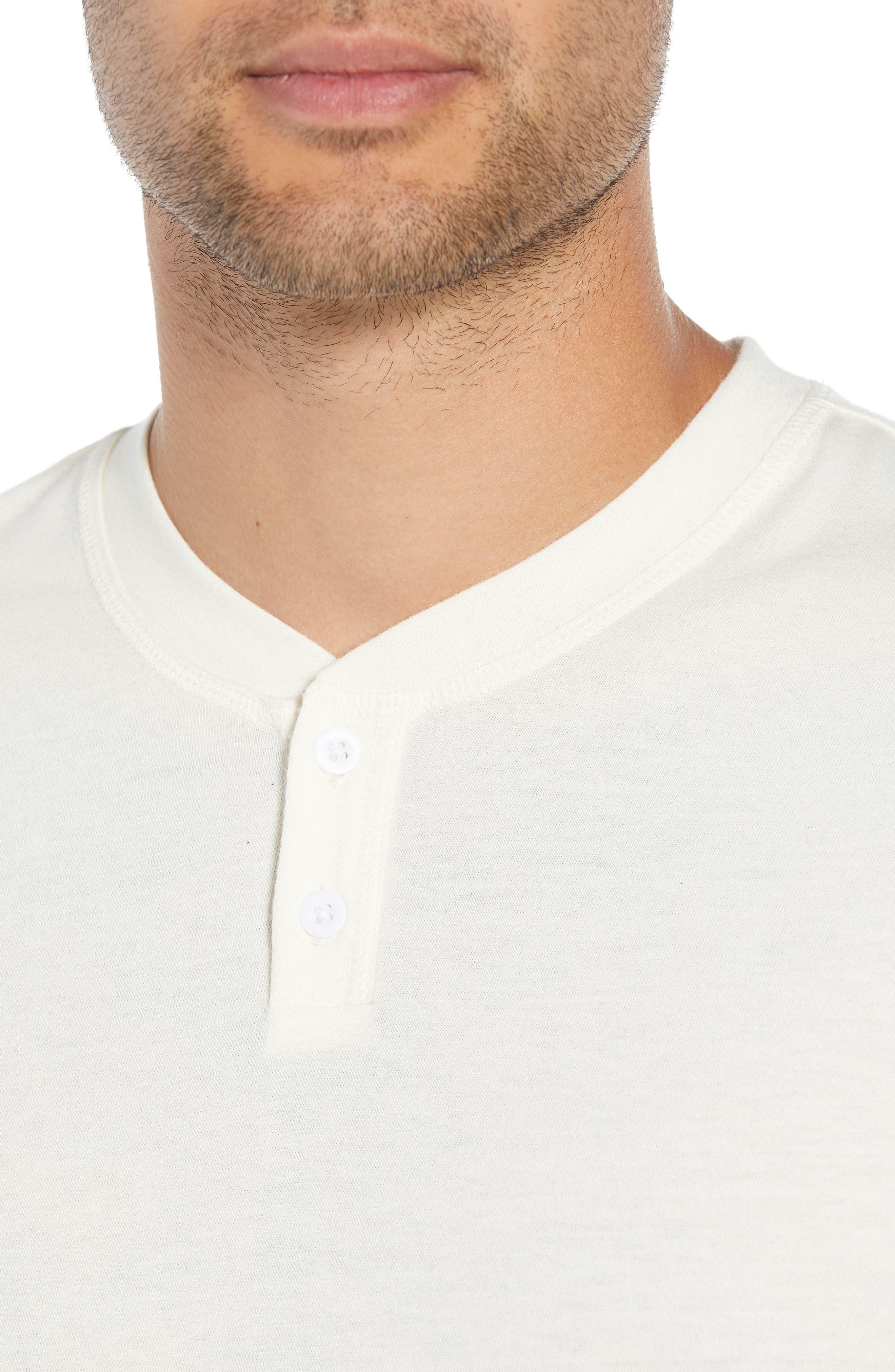 Solid Henley T-Shirt,                             Alternate thumbnail 4, color,                             IVORY EGRET