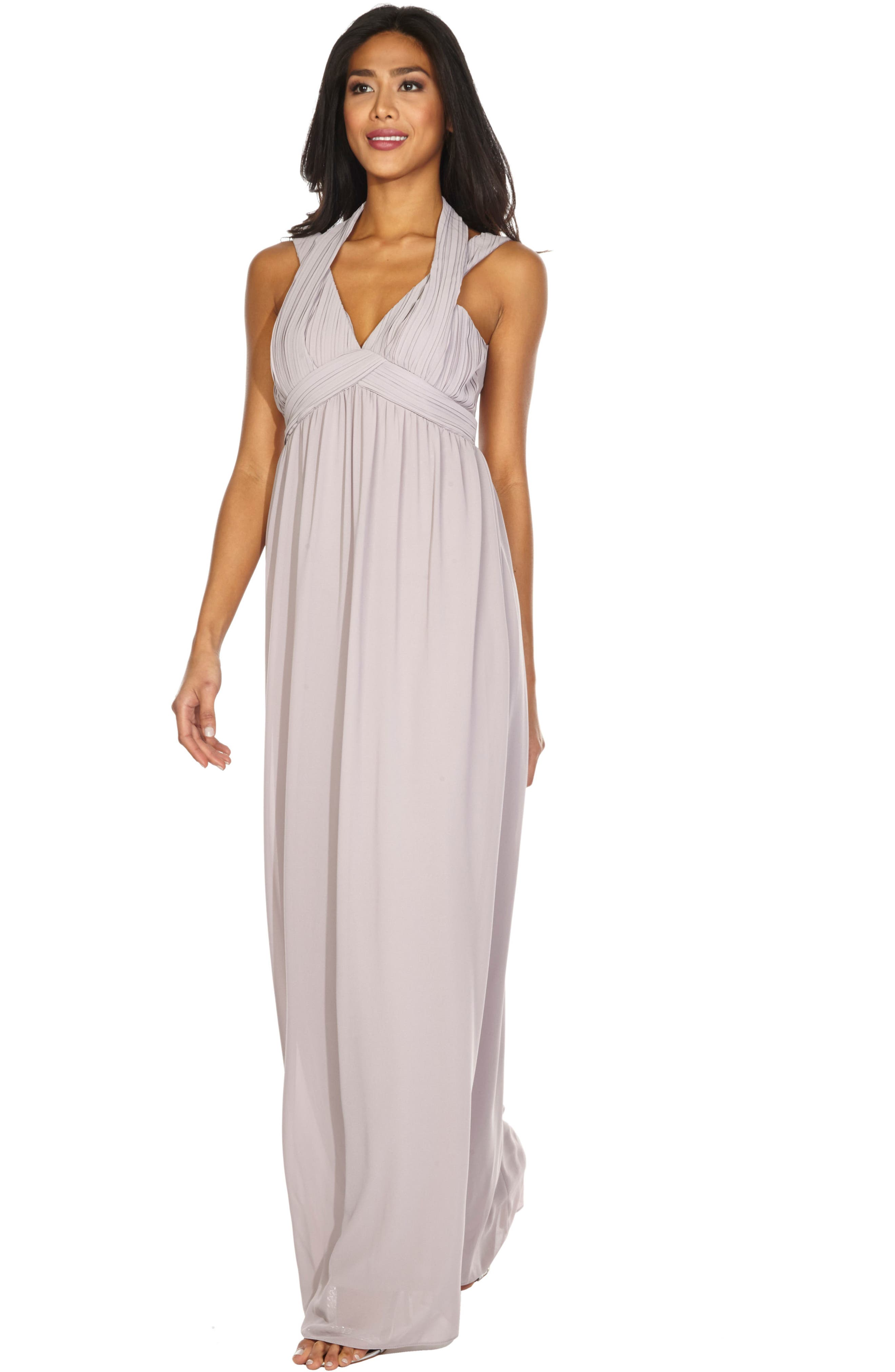 Arley Chiffon Gown,                             Alternate thumbnail 4, color,