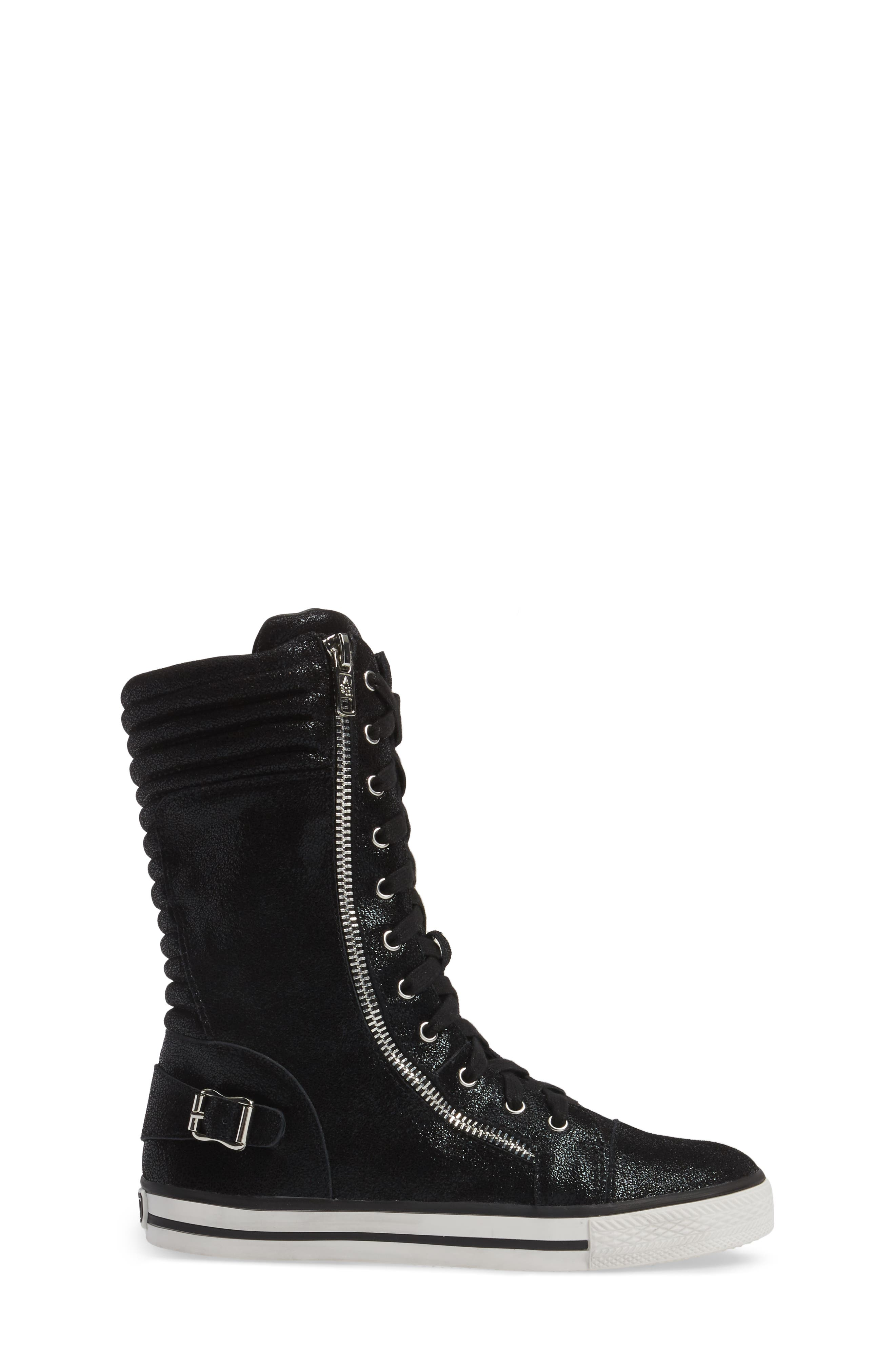 Vava Cate Ultra High Top Sneaker,                             Alternate thumbnail 3, color,                             001