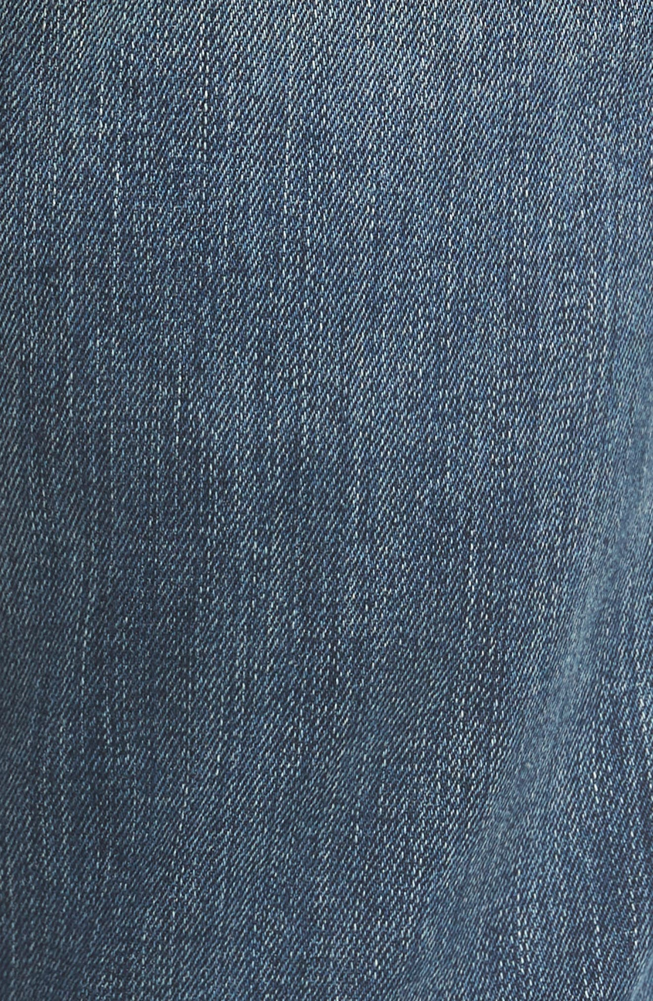 Jimmy Slim Straight Leg Jeans,                             Alternate thumbnail 5, color,                             CATHEDRAL