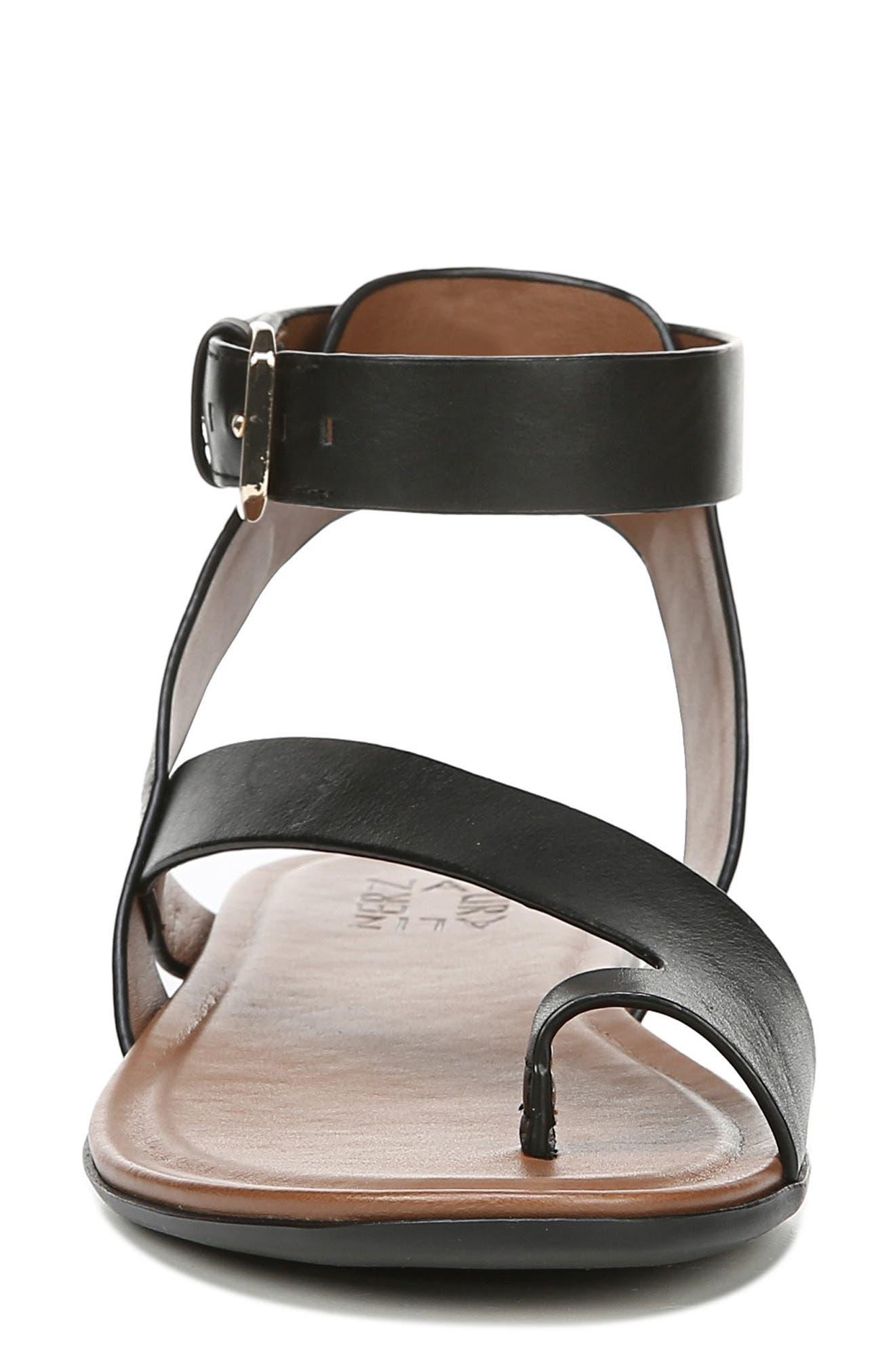 Tally Ankle Strap Sandal,                             Alternate thumbnail 4, color,                             BLACK LEATHER