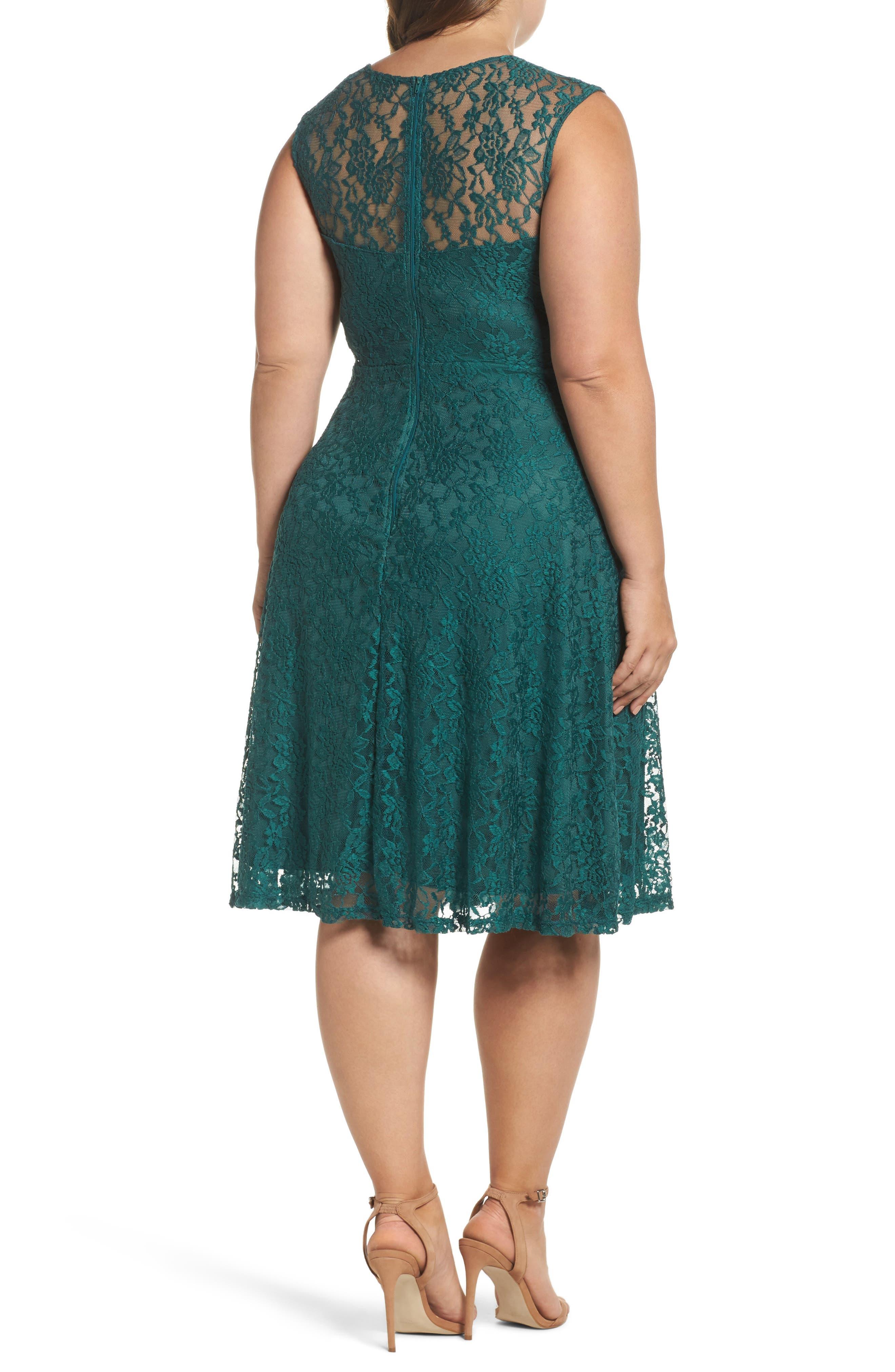 Lace Skater Dress,                             Alternate thumbnail 2, color,                             363