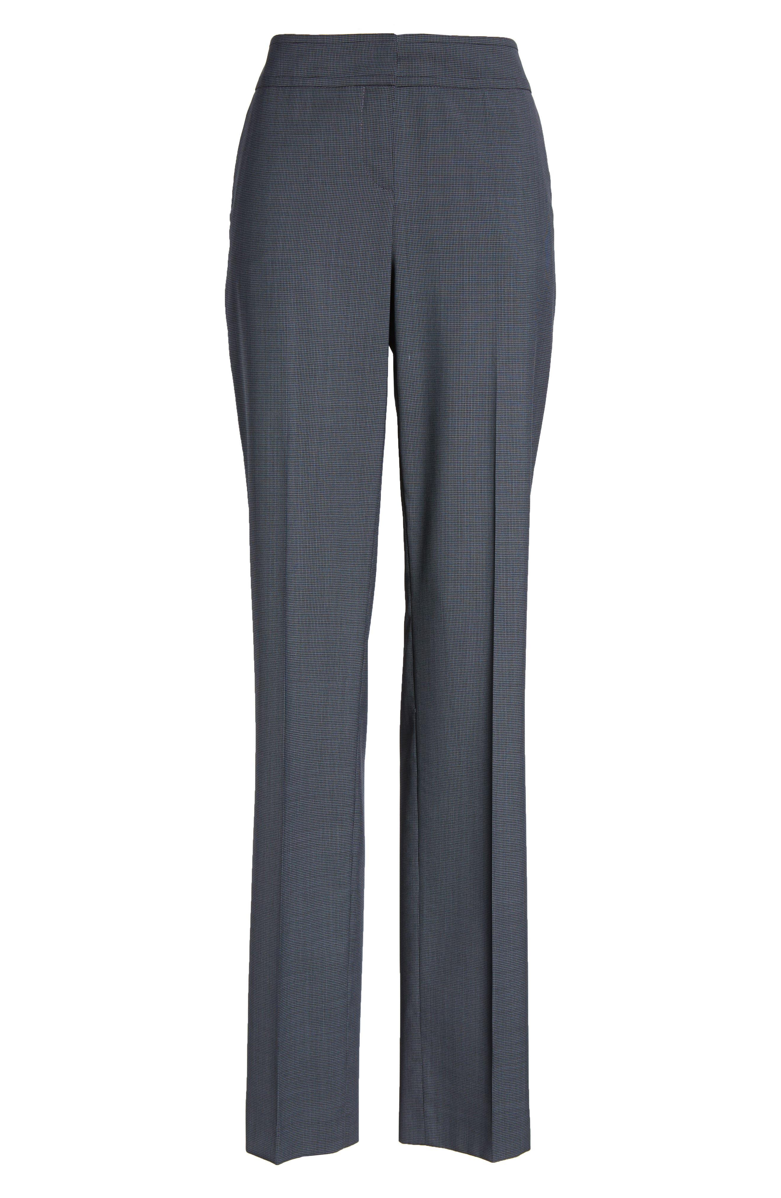 Talouise Pepita Stretch Wool Suit Pants,                             Alternate thumbnail 6, color,                             462