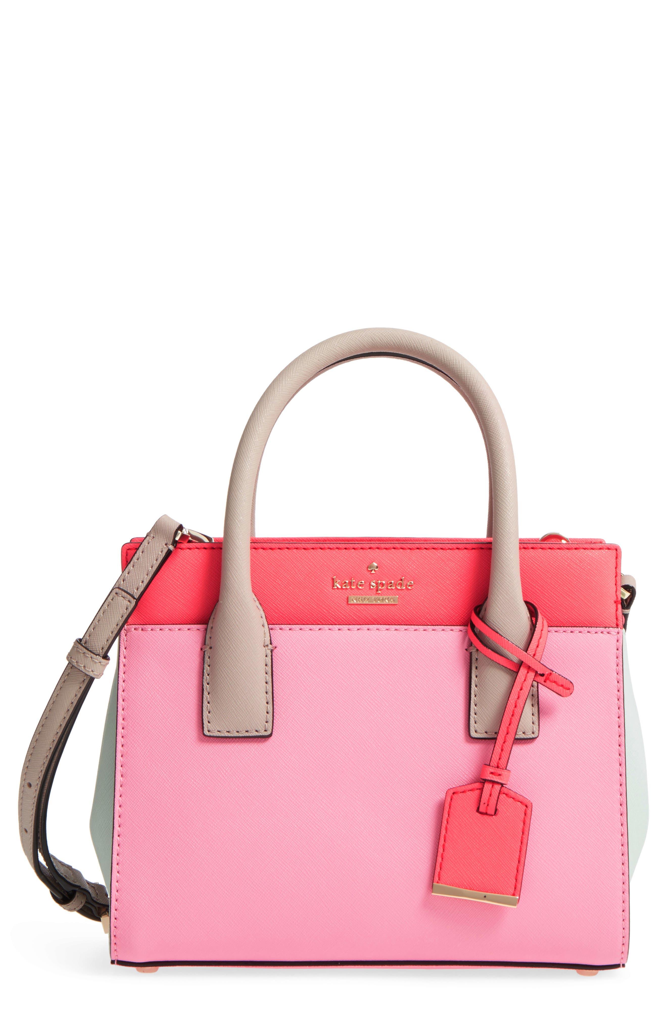 KATE SPADE NEW YORK,                             'cameron street - mini candace' leather satchel,                             Main thumbnail 1, color,                             690