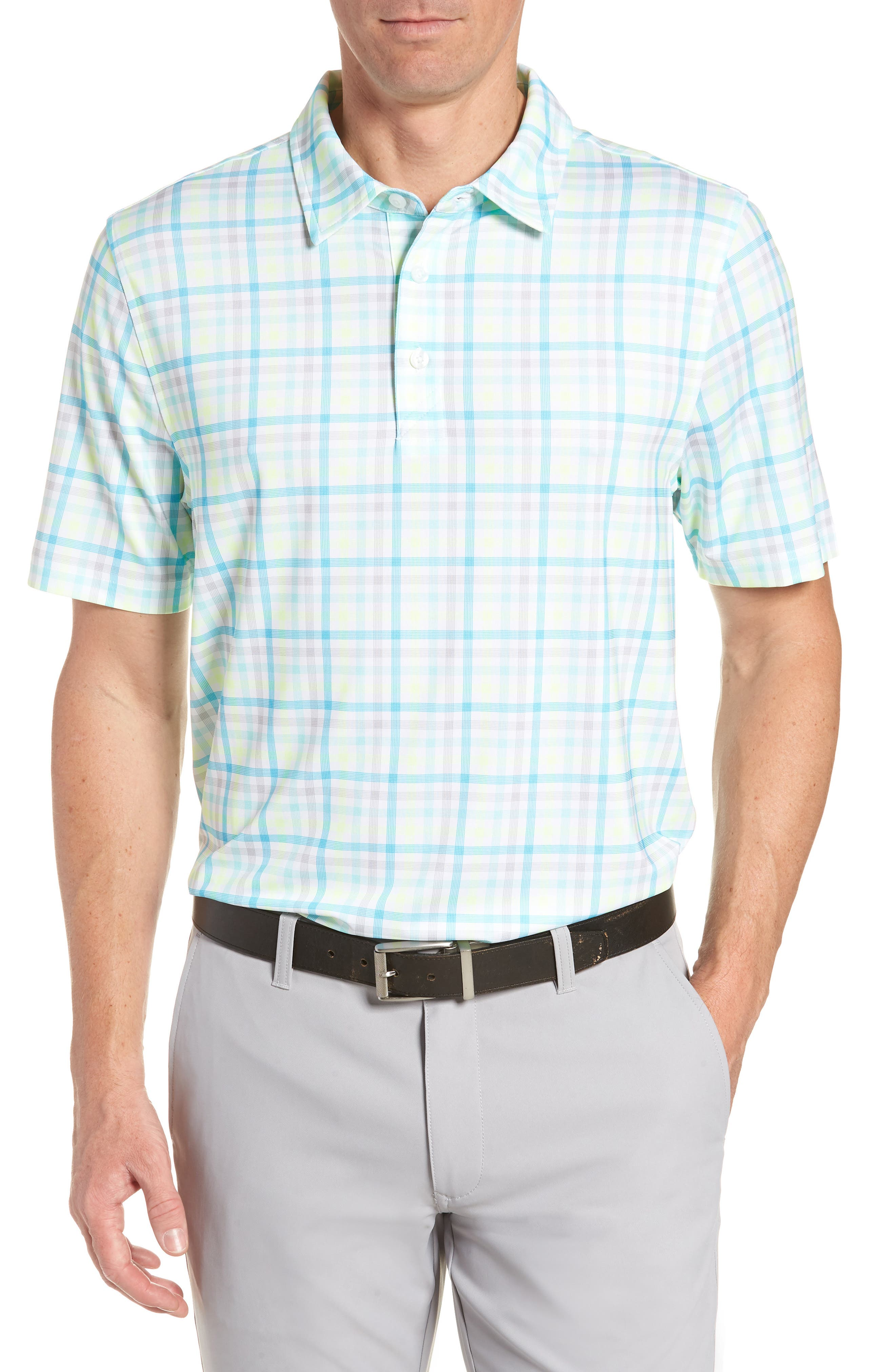 Chester Plaid Polo,                         Main,                         color, ORBIT