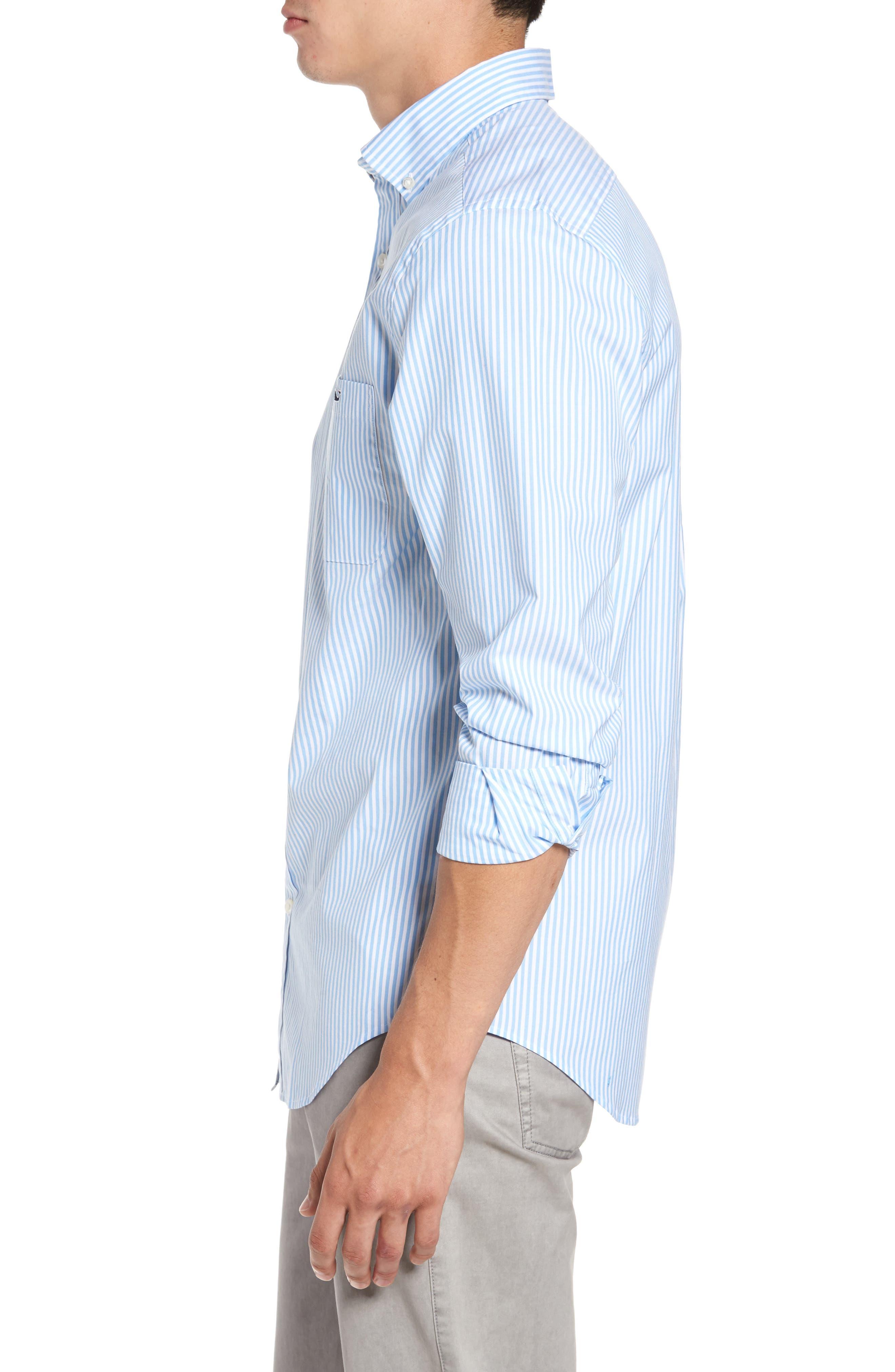 Swordfish Stripe Tucker Sport Shirt,                             Alternate thumbnail 3, color,