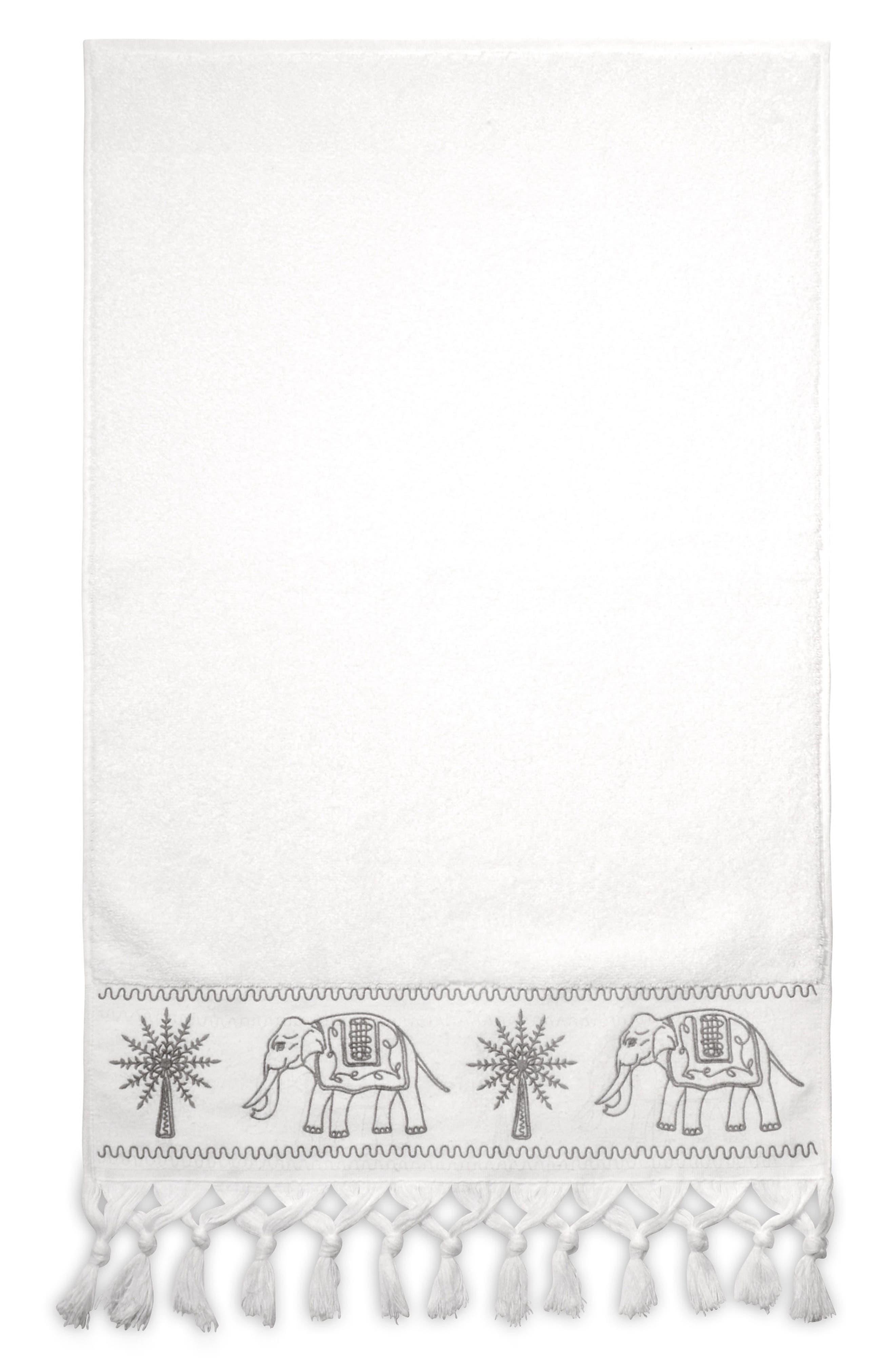Yaji Fringed Hand Towel,                             Main thumbnail 1, color,                             020