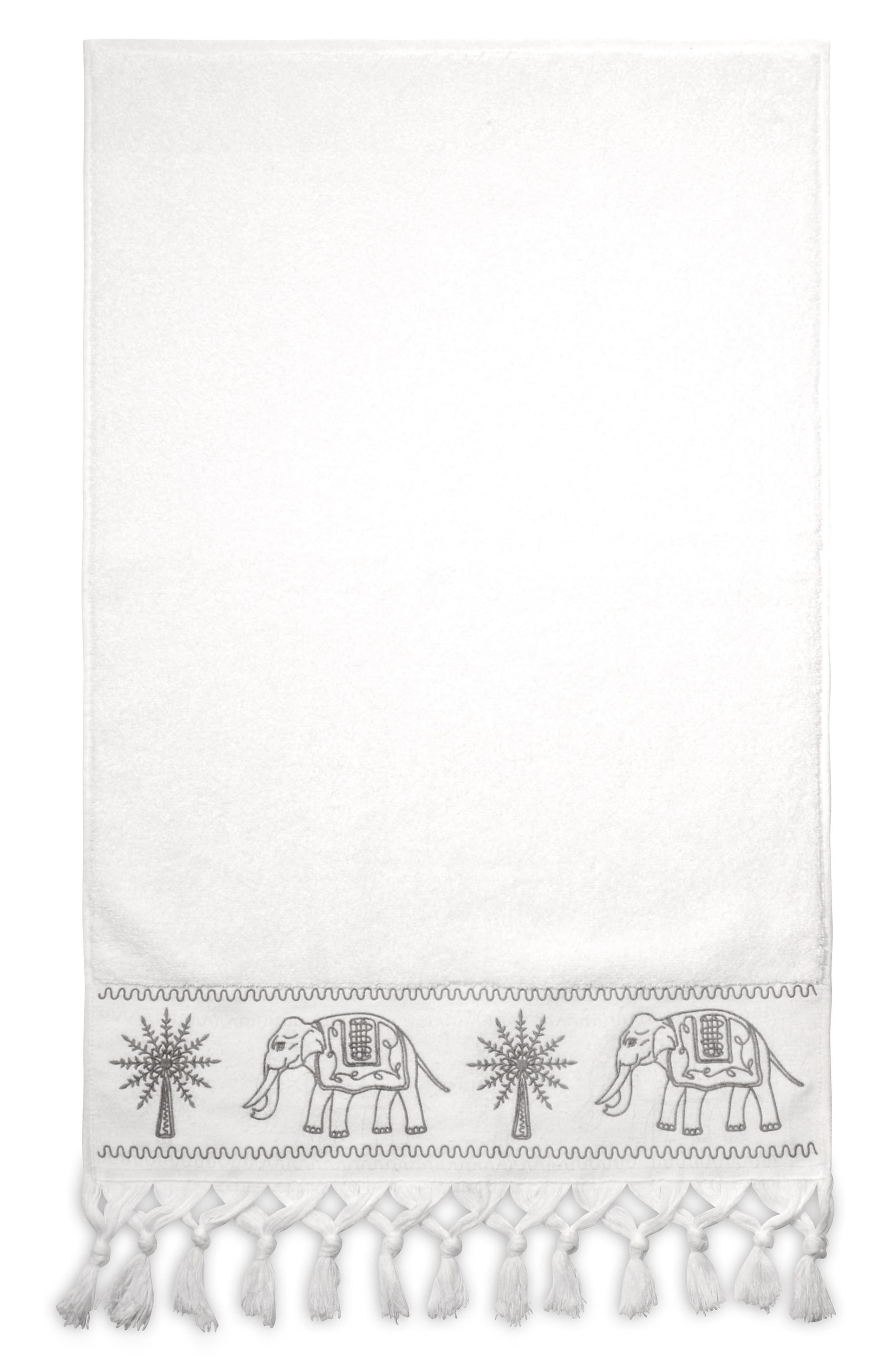 Yaji Fringed Hand Towel,                         Main,                         color, 020