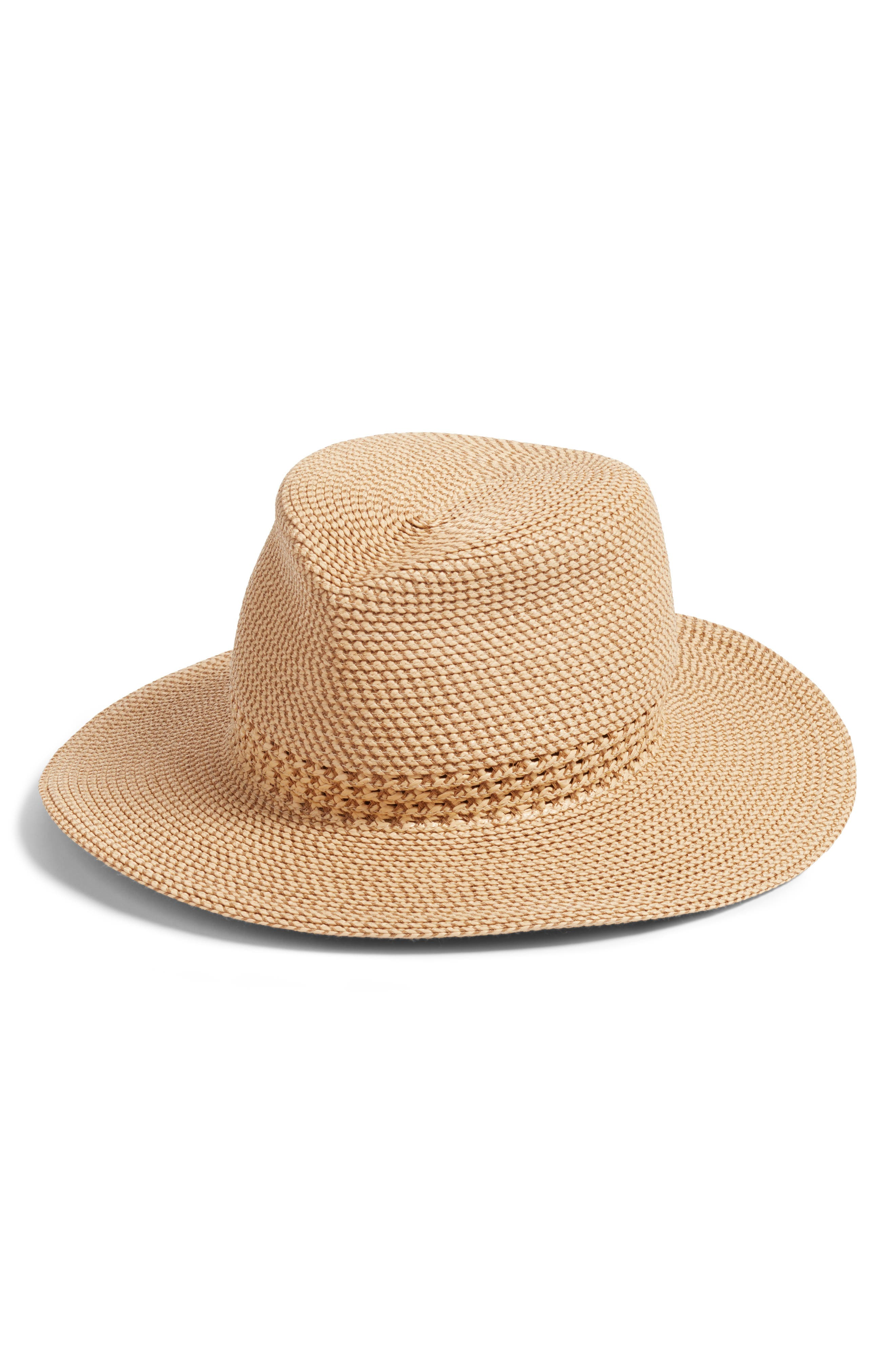 Bayou Packable Squishee<sup>®</sup> Fedora,                             Main thumbnail 1, color,                             PEANUT