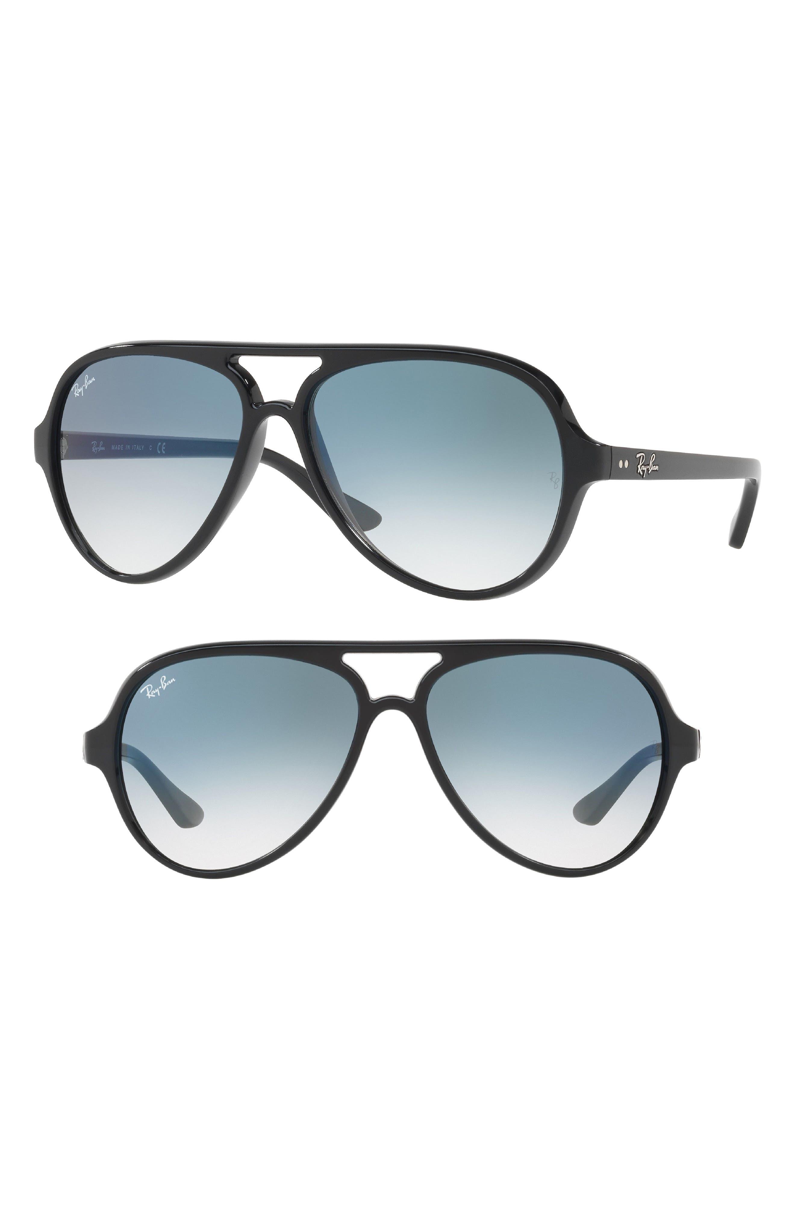 59mm Resin Aviator Sunglasses,                             Main thumbnail 1, color,                             003