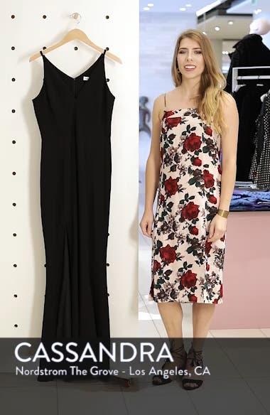 Iris Slit Crepe Gown, sales video thumbnail