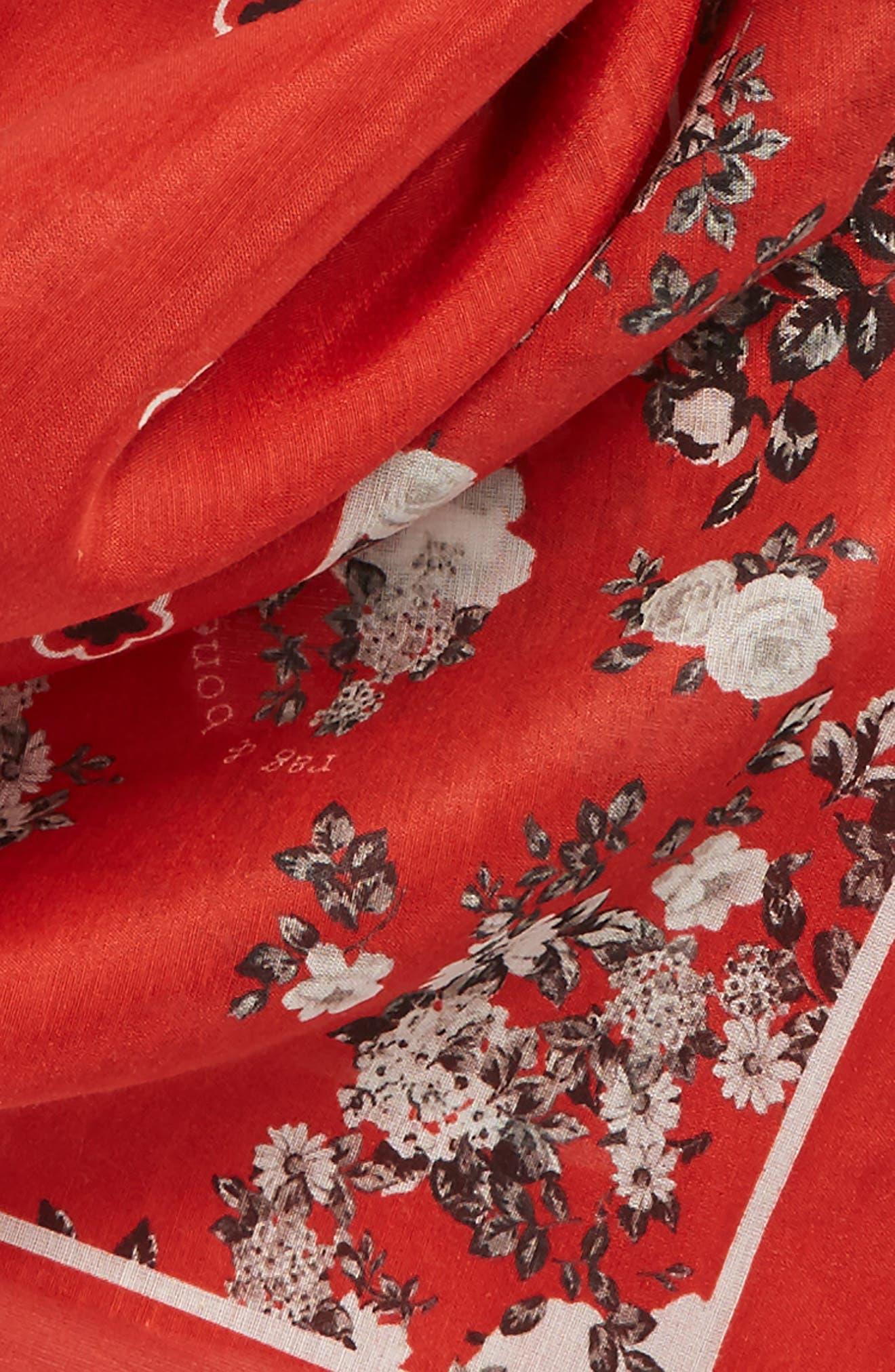 RAG & BONE,                             Garden Floral Bandana,                             Alternate thumbnail 3, color,                             609