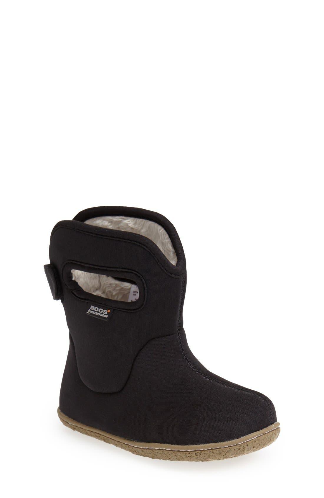BOGS,                             Baby Bogs Insulated Waterproof Rain Boot,                             Main thumbnail 1, color,                             BLACK