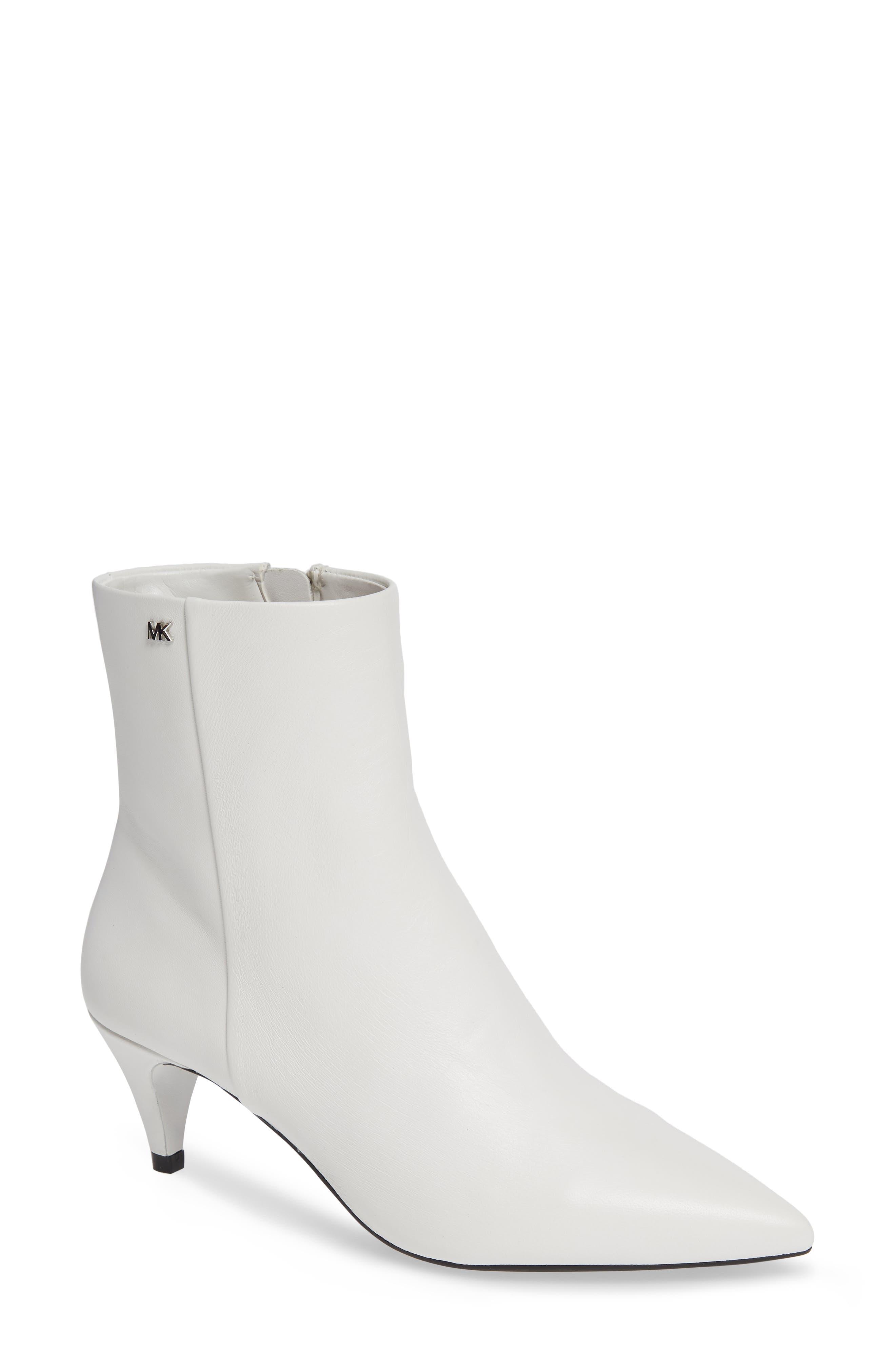 Michael Michael Kors Blaine Kitten Heel Bootie, White