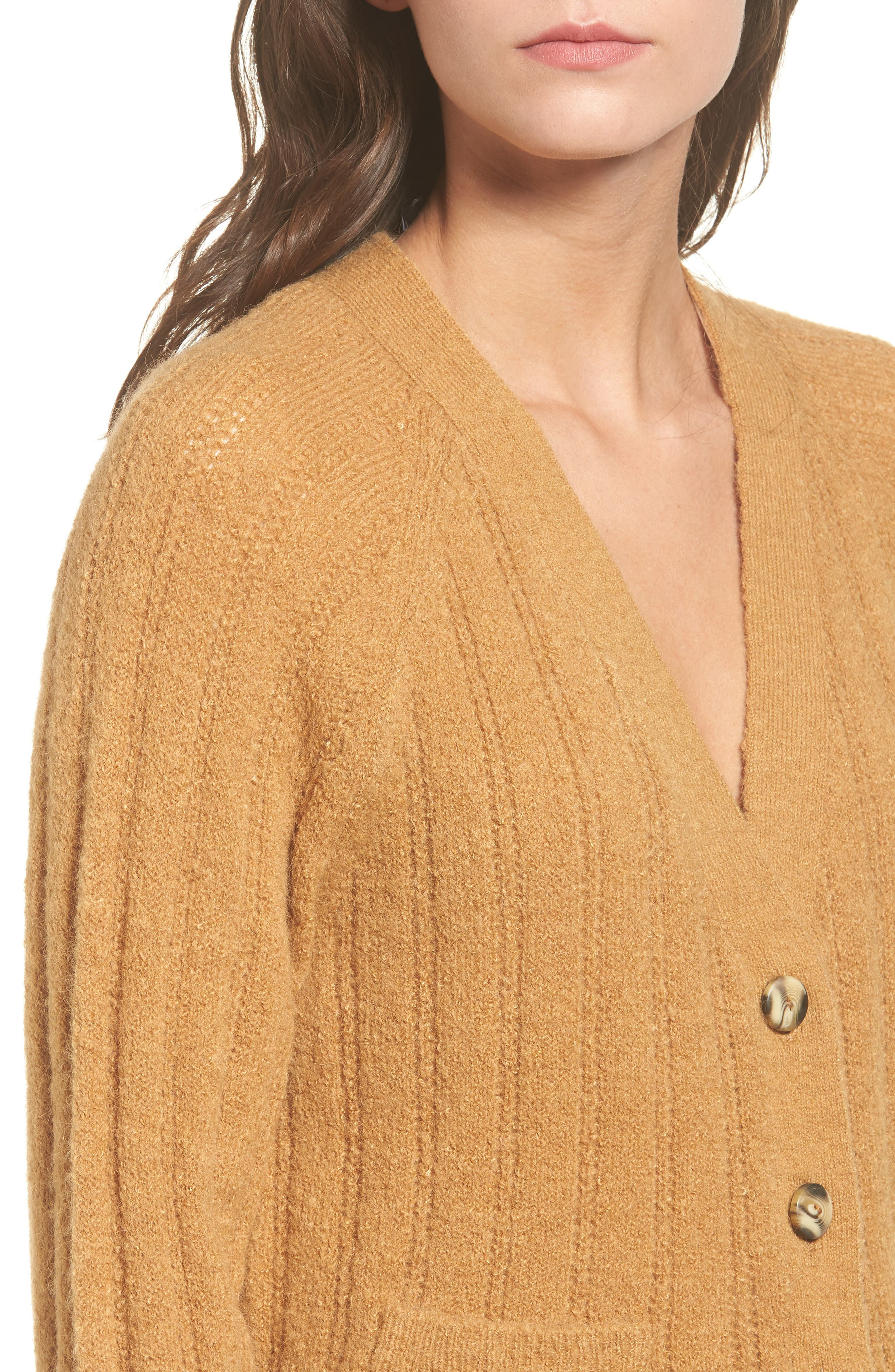Rib Knit Grandpa Cardigan,                             Alternate thumbnail 4, color,