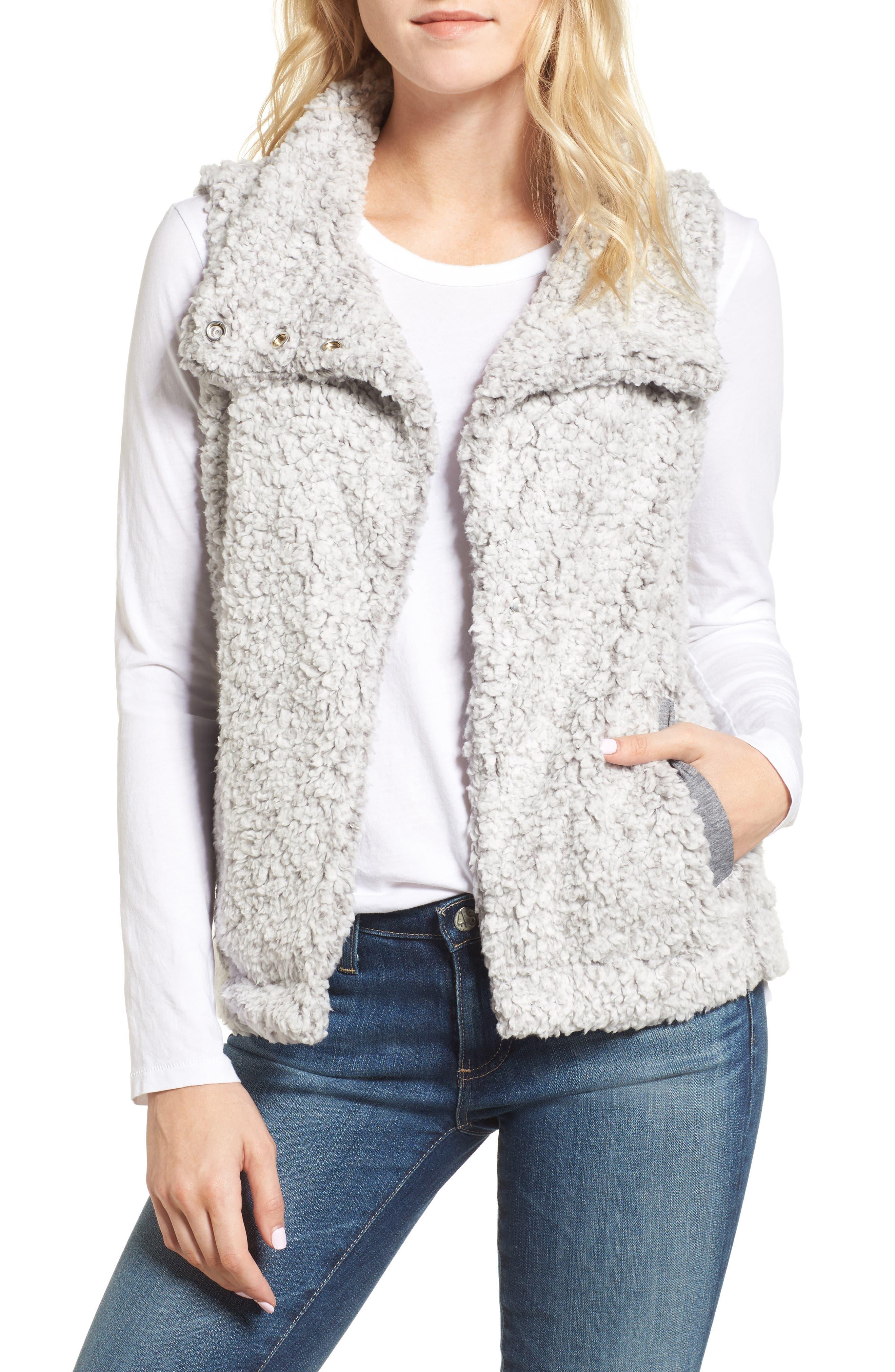 Frosty High Pile Fleece Vest,                         Main,                         color, 063