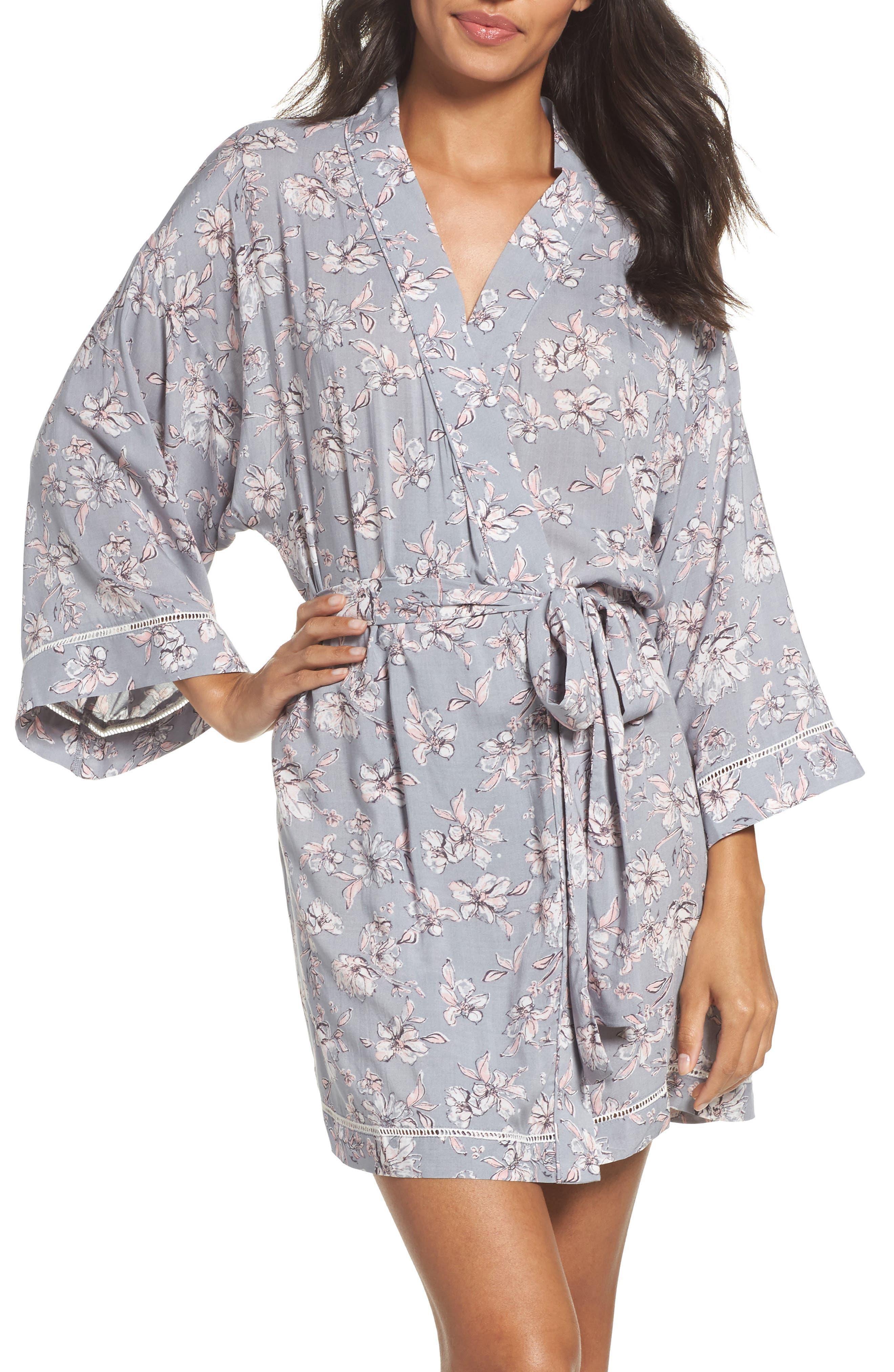 Sweet Dreams Print Robe,                         Main,                         color, 050