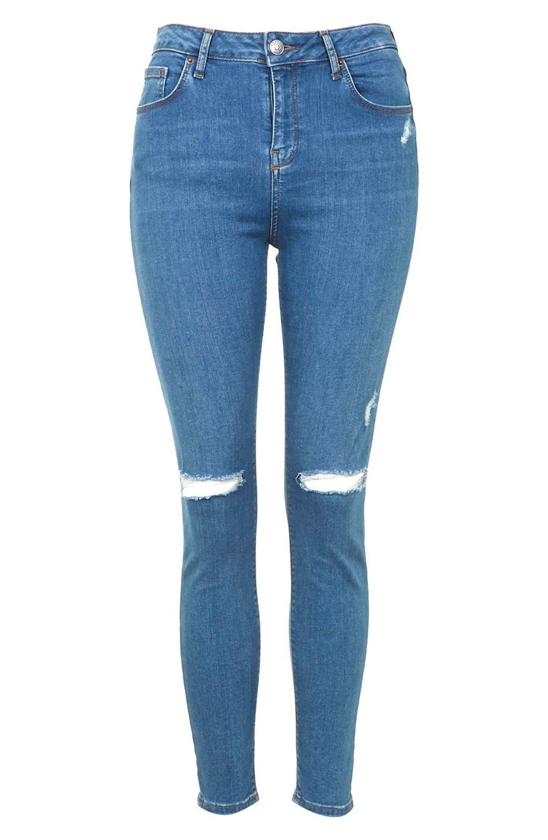 Moto 'Jamie' High Rise Skinny Jeans,                             Alternate thumbnail 5, color,                             400