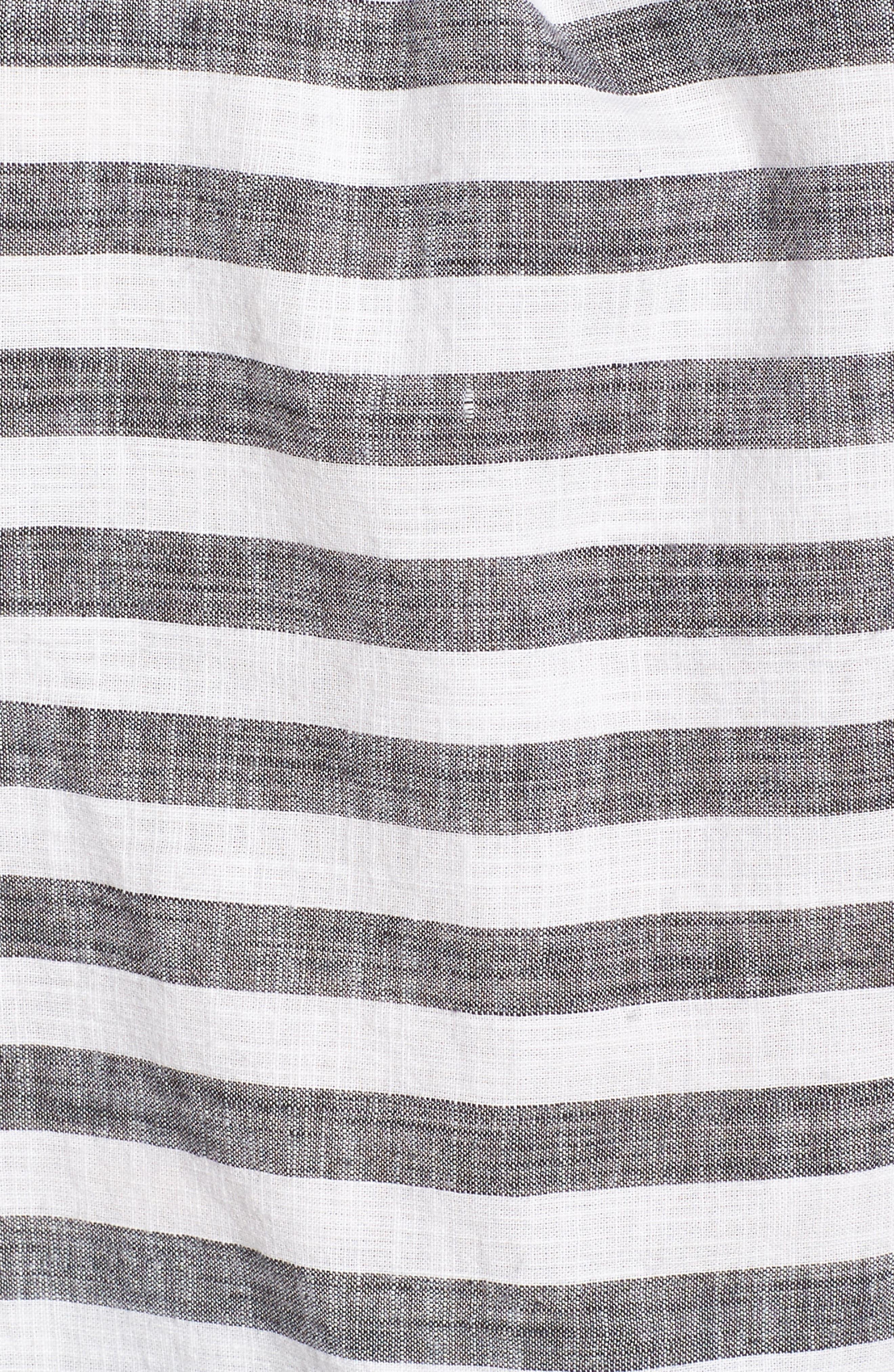 Stripe Off the Shoulder Top,                             Alternate thumbnail 6, color,                             060
