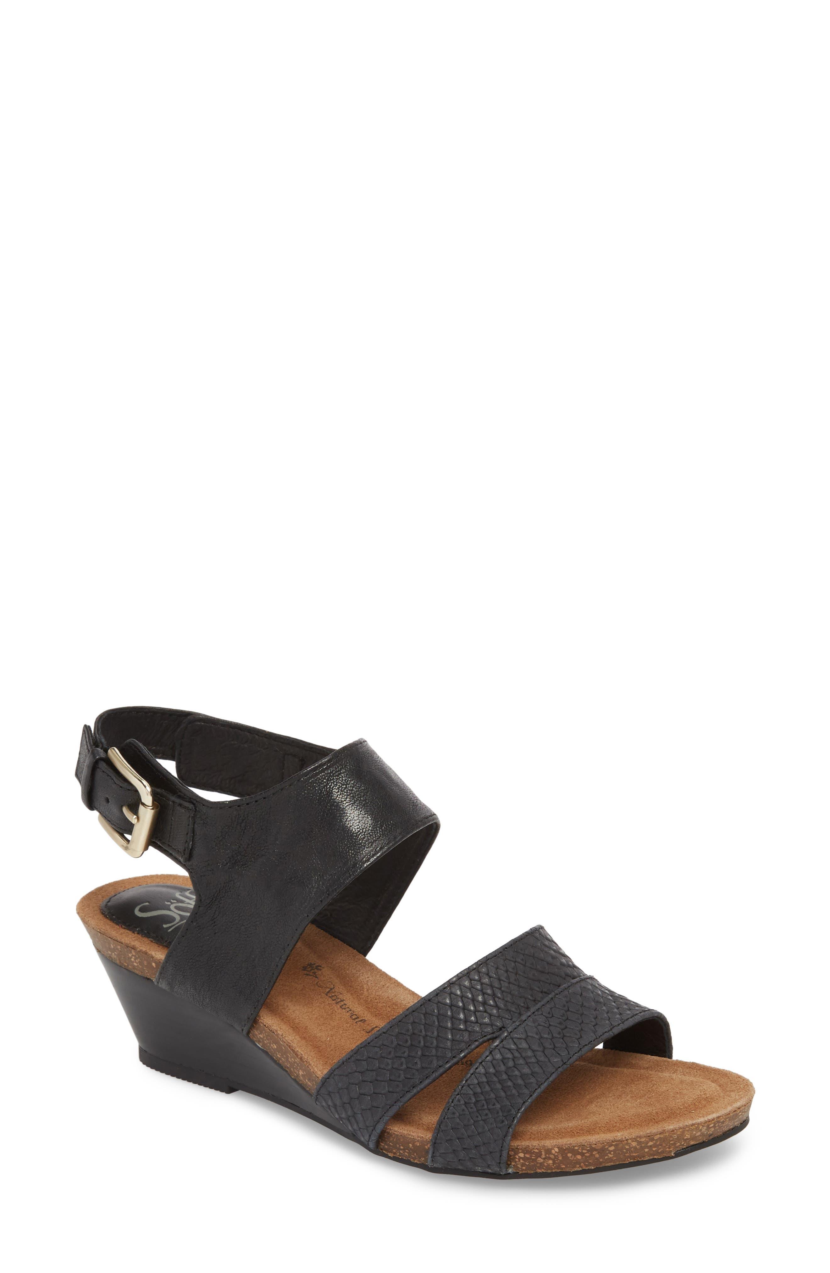Velden Wedge Sandal,                         Main,                         color, 001