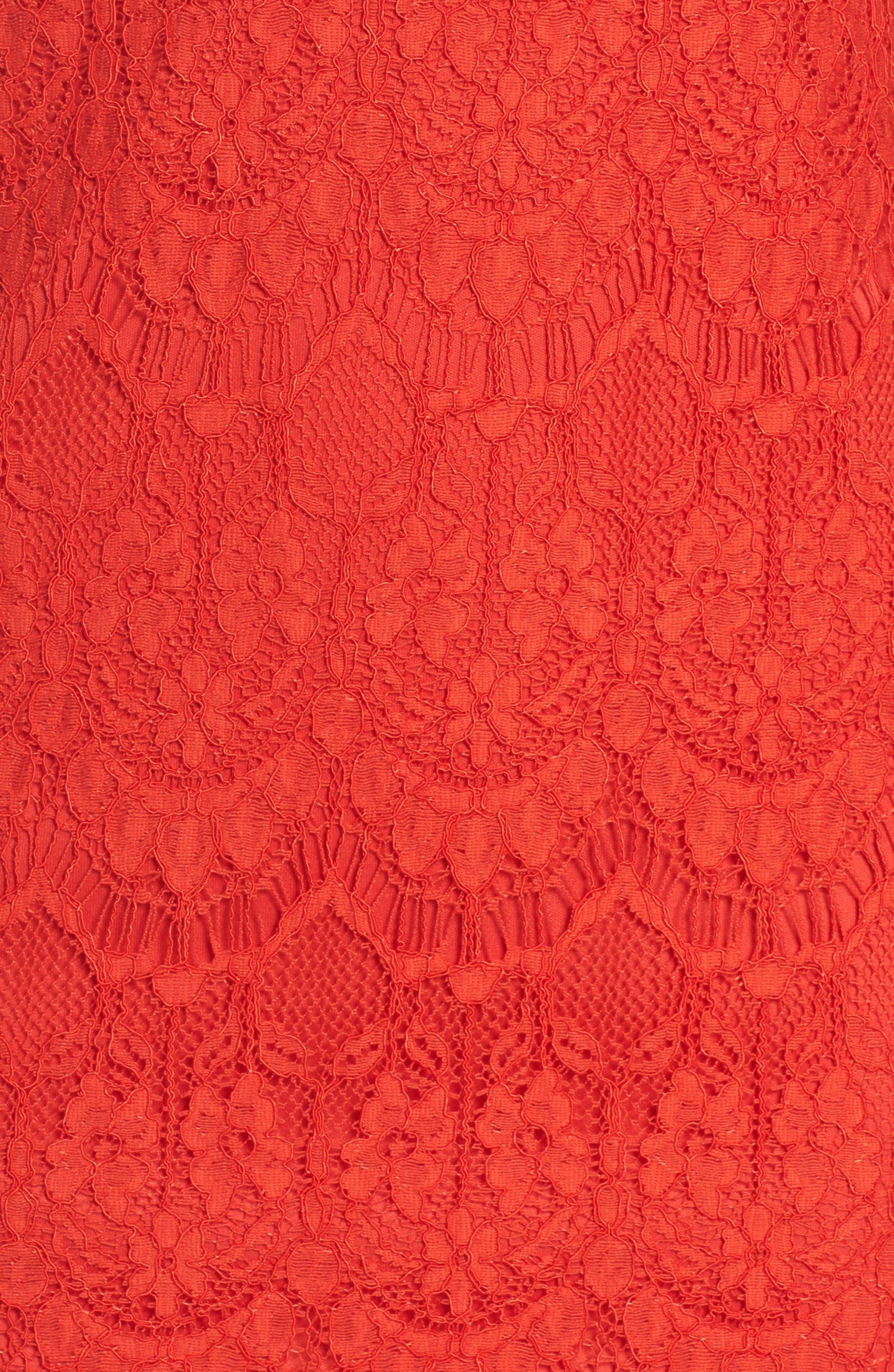 Lace Sheath Dress,                             Alternate thumbnail 5, color,                             640