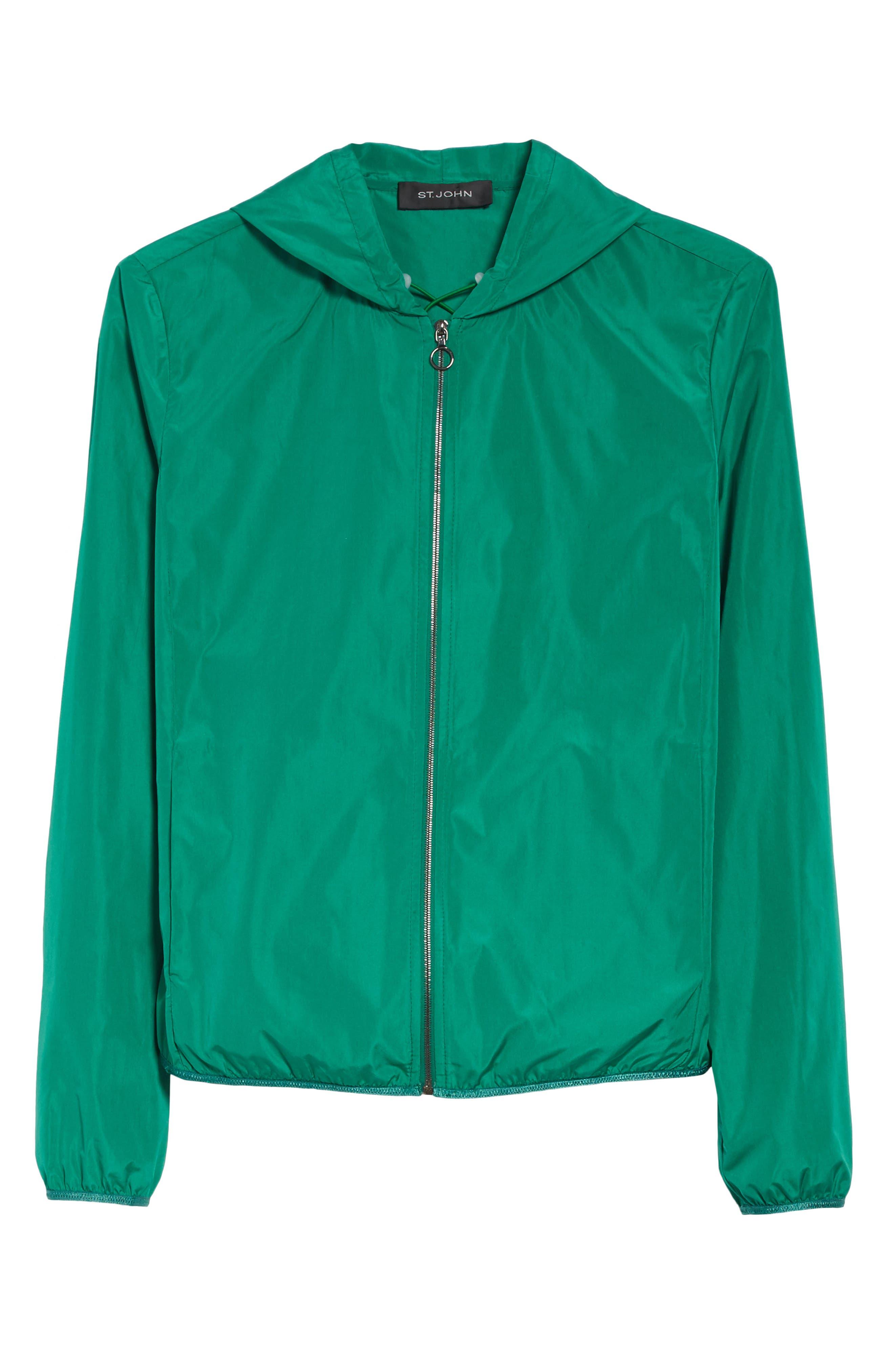 Lightweight Taffeta Hooded Jacket,                             Alternate thumbnail 5, color,                             310
