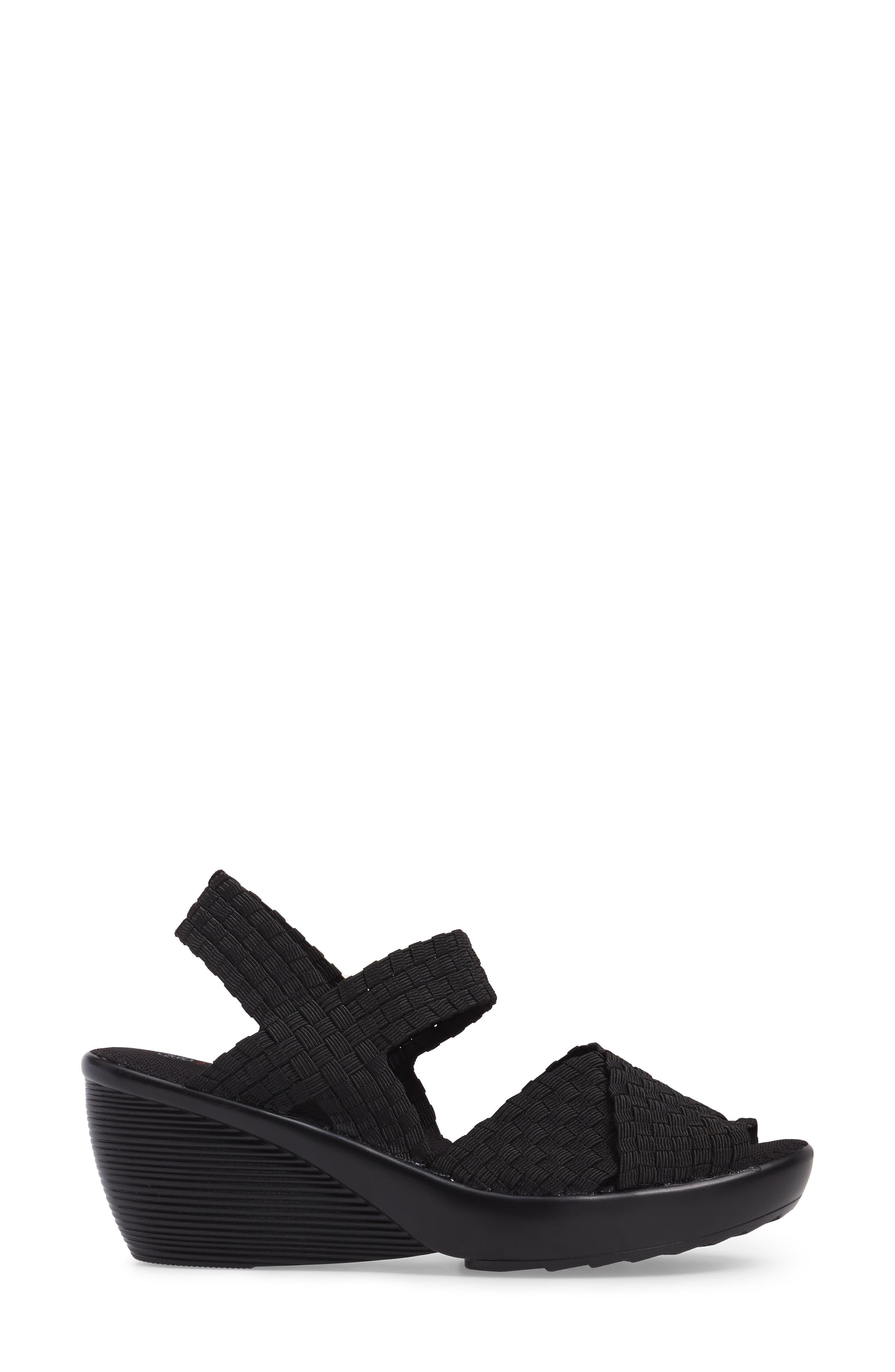 Fresh Buttercup Sandal,                             Alternate thumbnail 3, color,                             BLACK FABRIC