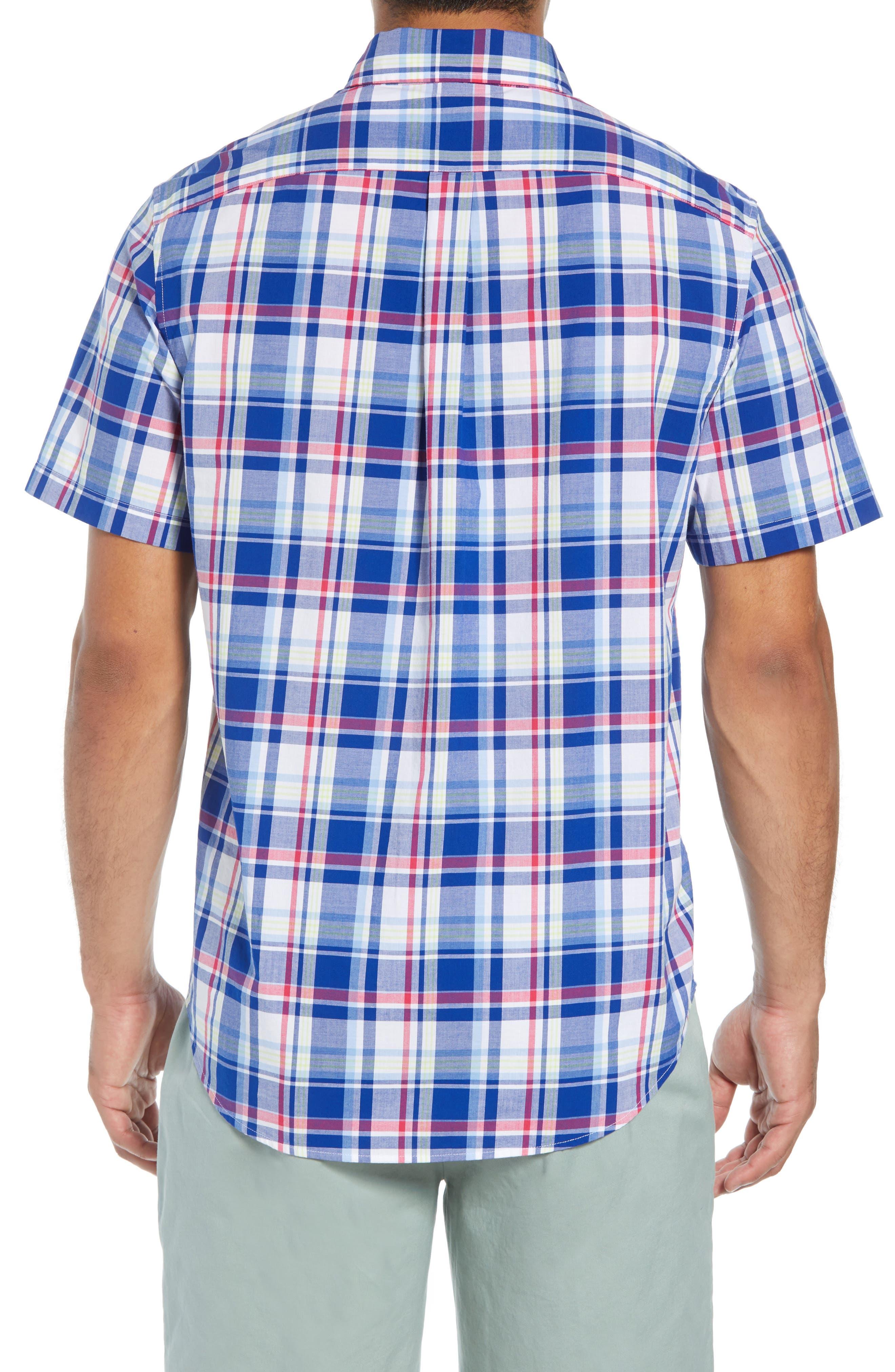 Classic Tucker Regular Fit Plaid Sport Shirt,                             Alternate thumbnail 3, color,                             461
