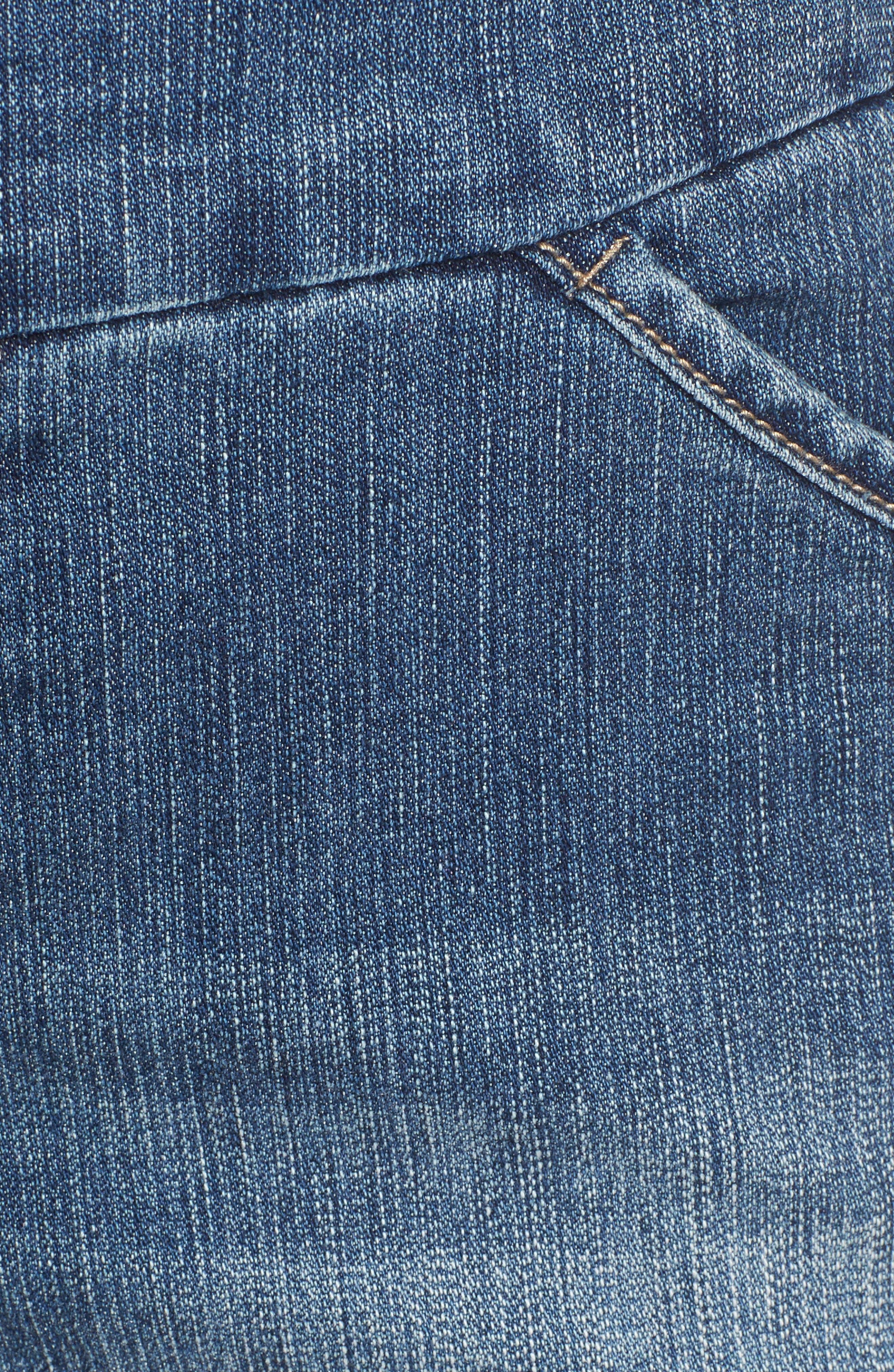 Ainsley Pull-On Denim Shorts,                             Alternate thumbnail 5, color,                             402