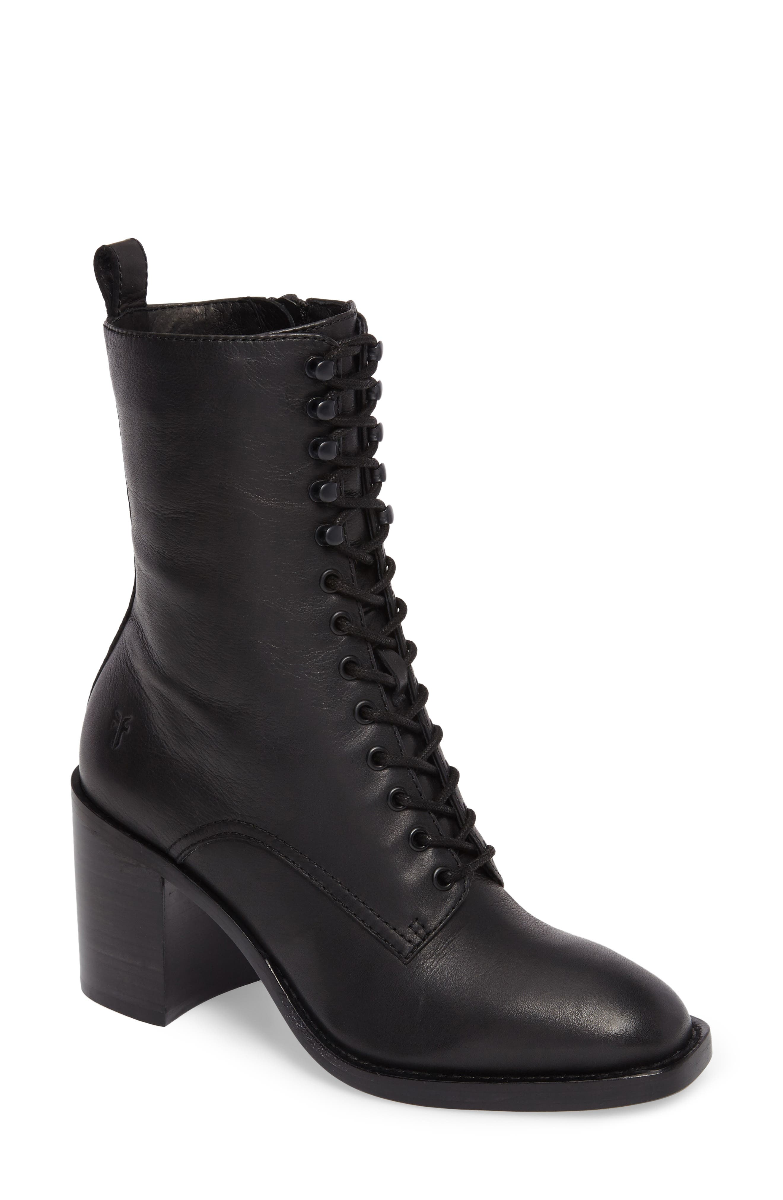 Pia Combat Boot,                         Main,                         color, 001