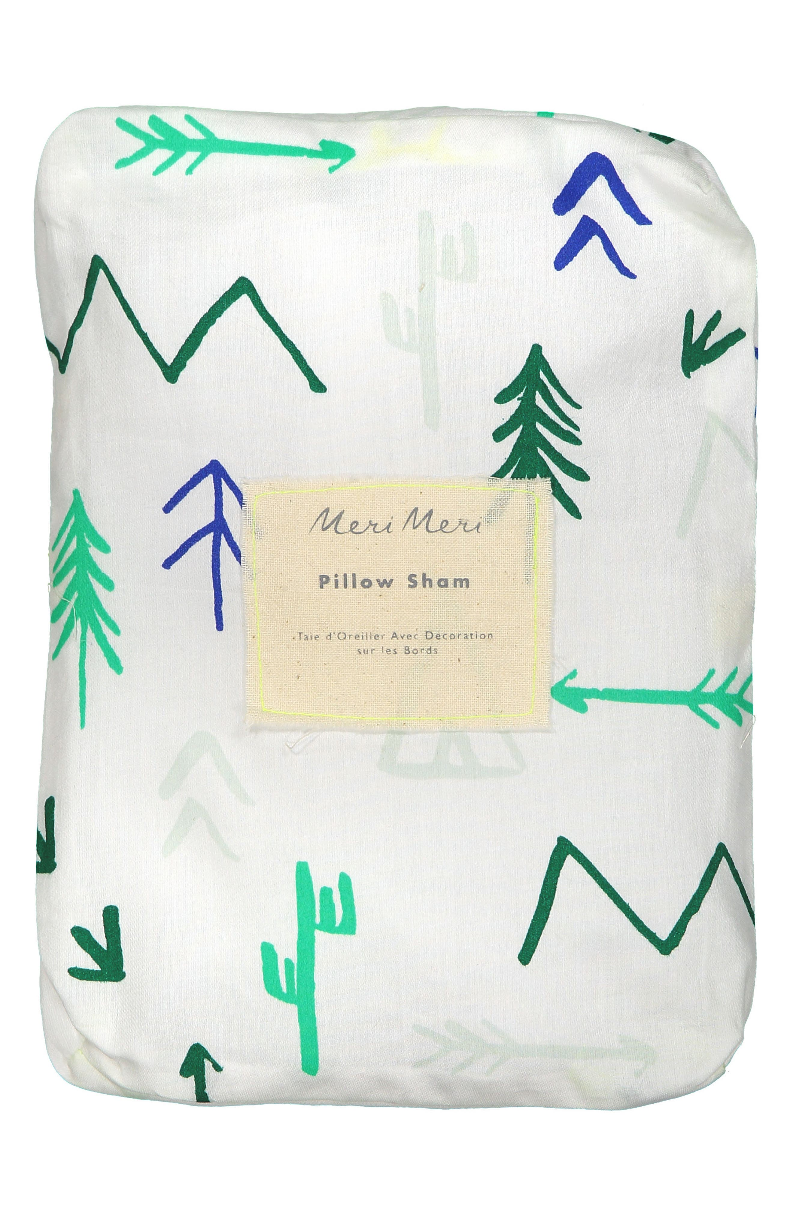 Campground Set of 2 Organic Cotton Pillow Shams,                         Main,                         color, BRIGHT WHITE