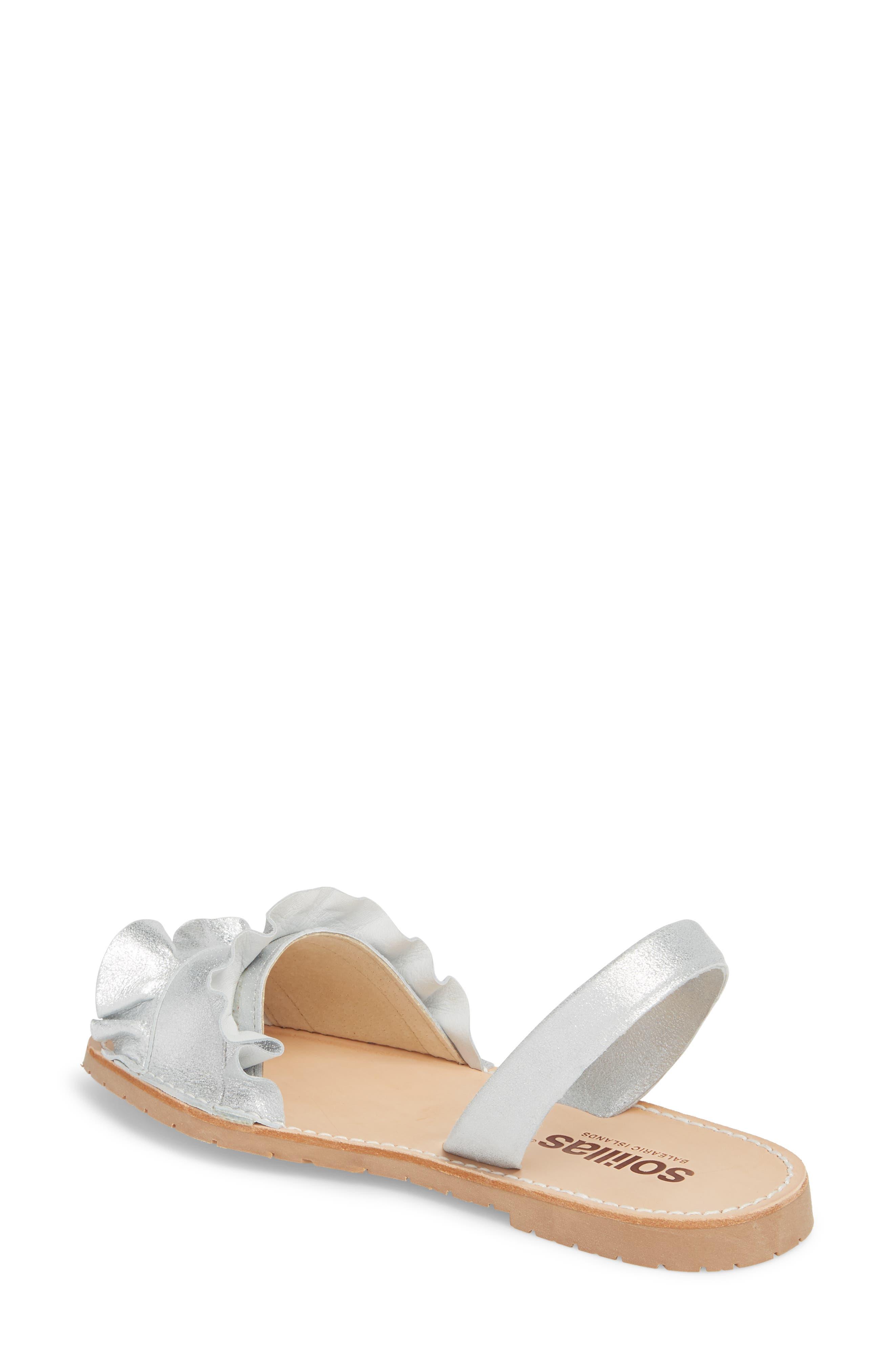 Frilled Flat Sandal,                             Alternate thumbnail 2, color,                             040