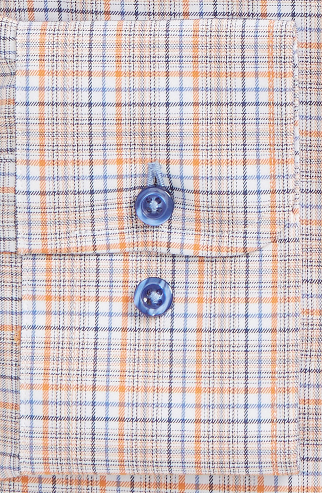 Regular Fit Plaid Dress Shirt,                             Alternate thumbnail 4, color,
