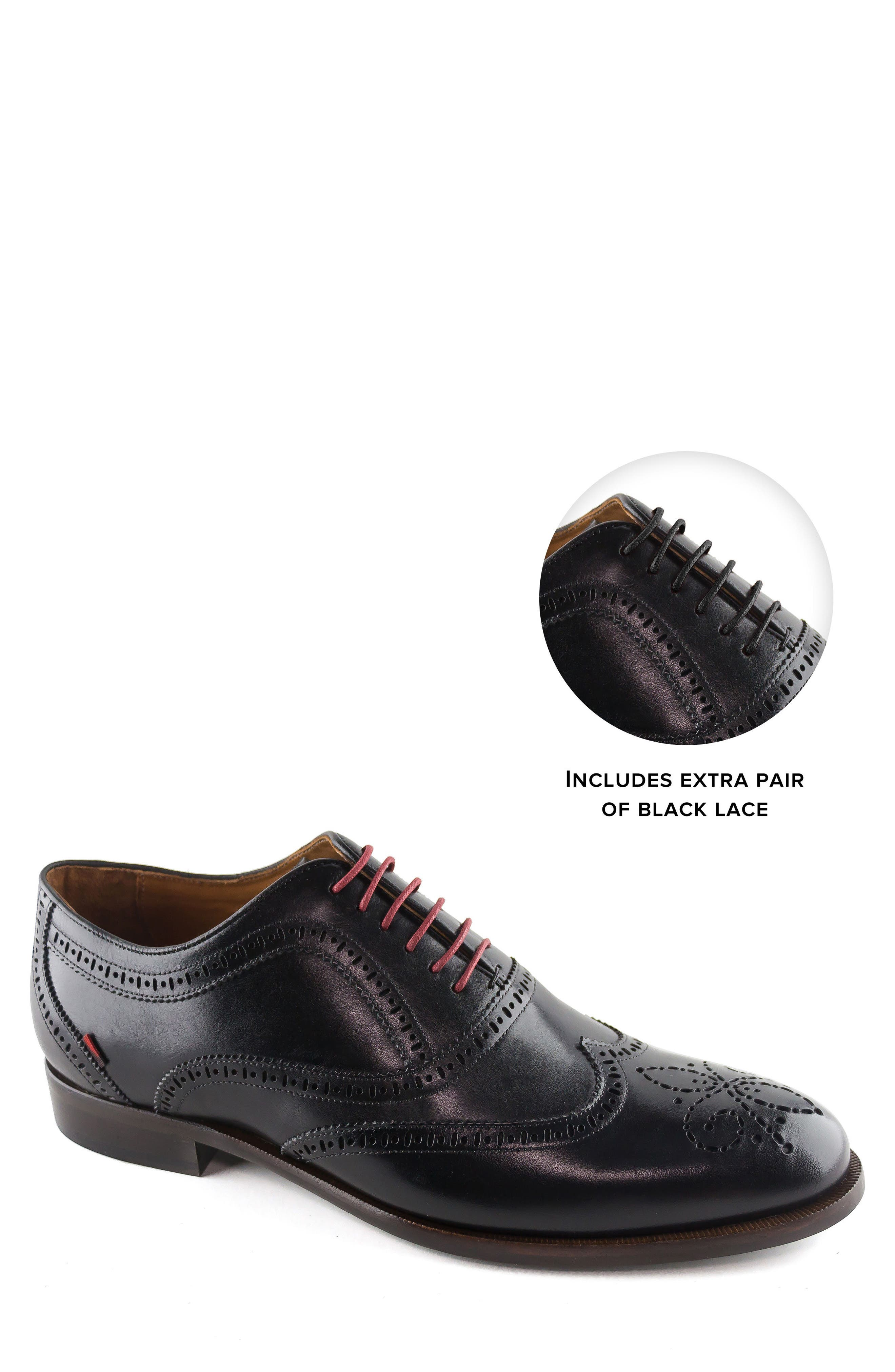 Madison Wingtip Oxford,                             Alternate thumbnail 7, color,                             BLACK