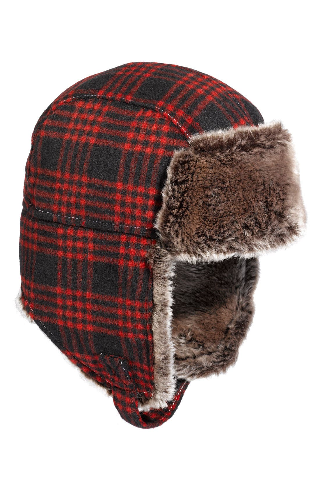 Plaid Trapper Hat, Main, color, 600
