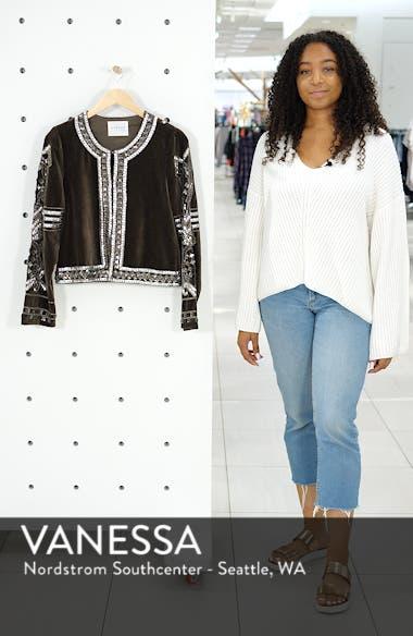 Velvet Beaded Jacket, sales video thumbnail