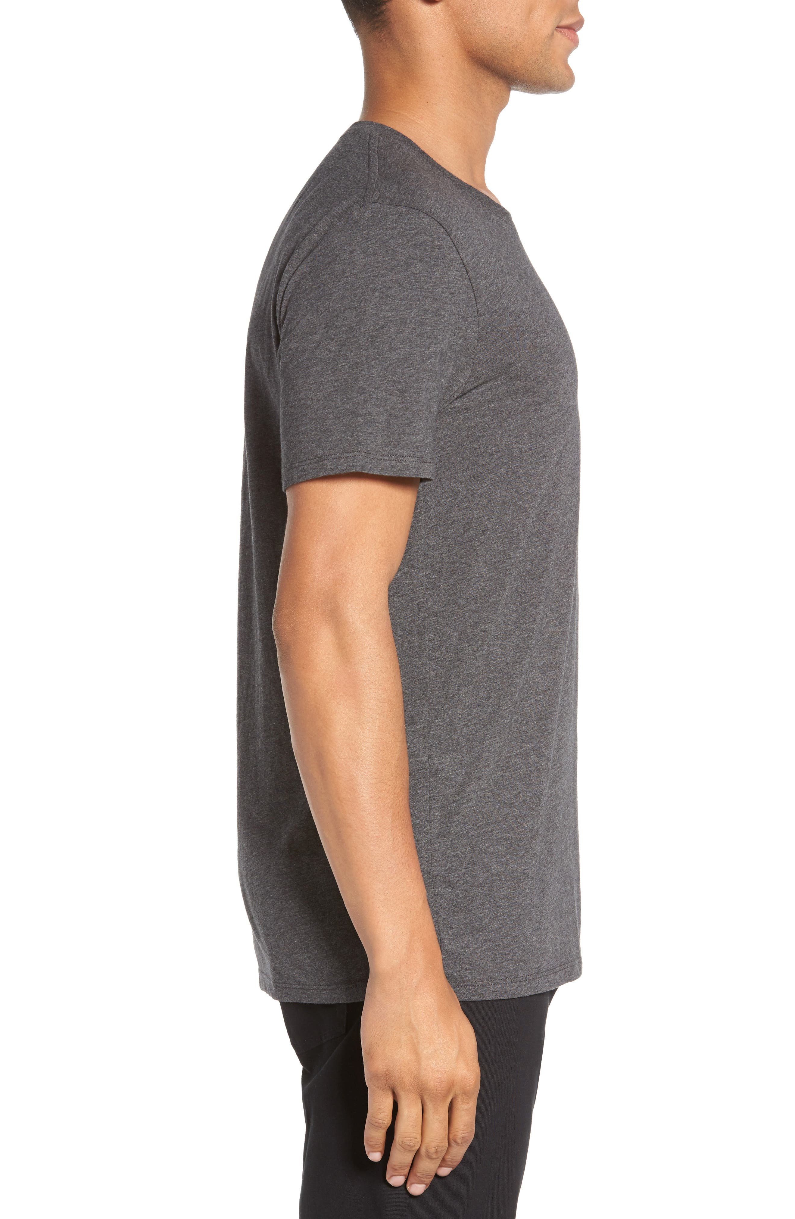 Crewneck T-Shirt,                             Alternate thumbnail 3, color,                             HEATHER CARBON