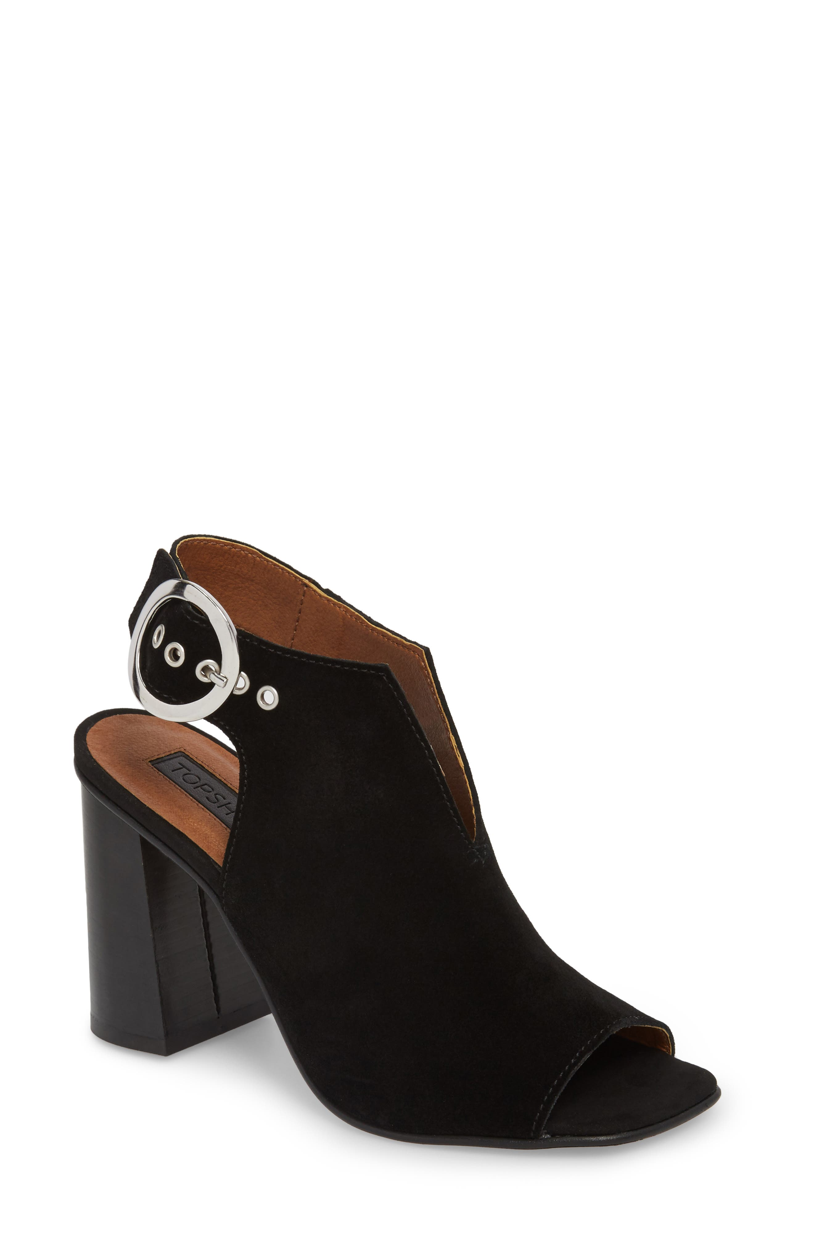 Nika Flared Heel Slingback Sandal,                         Main,                         color,