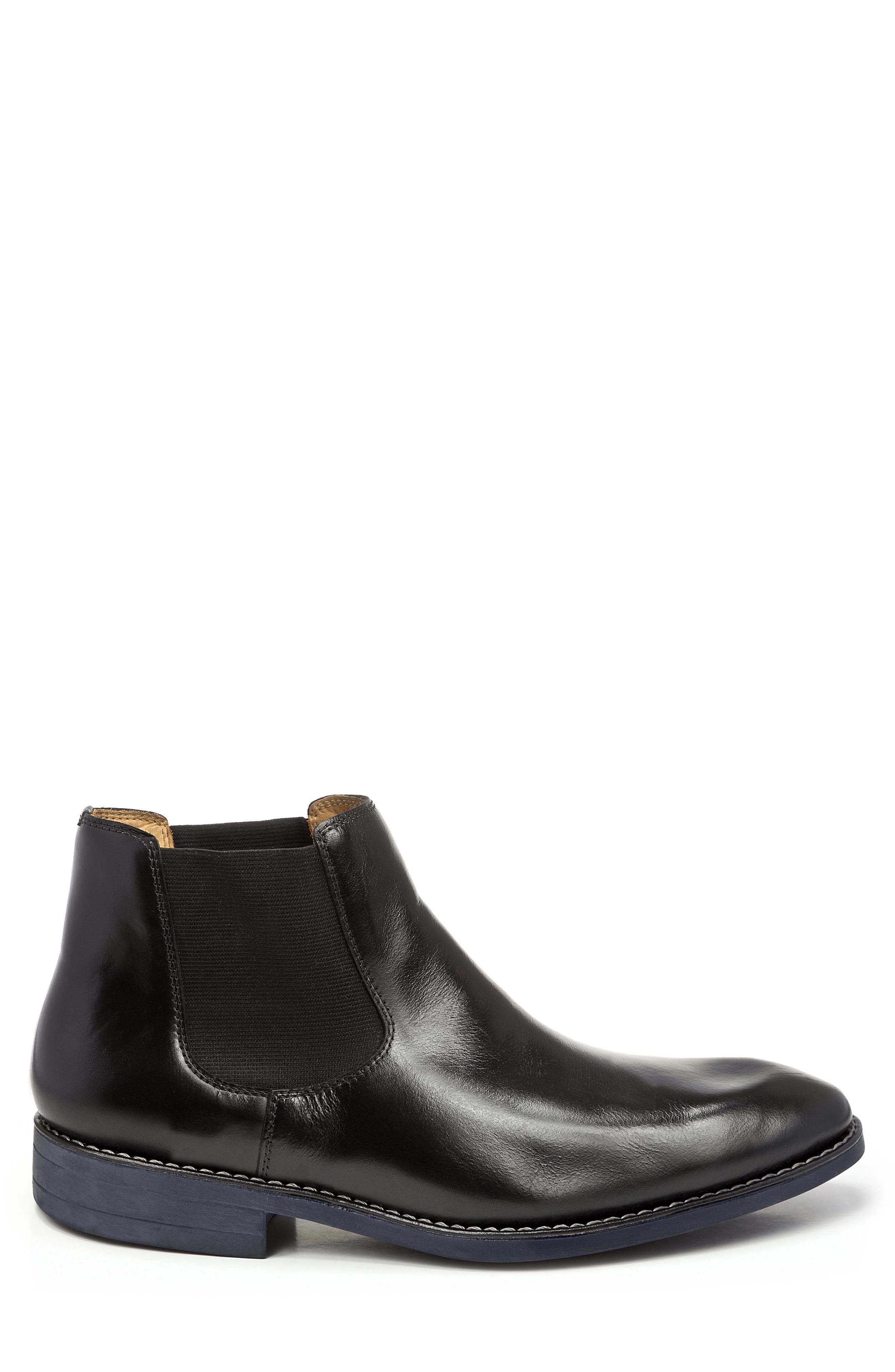 Marcus Chelsea Boot,                             Alternate thumbnail 3, color,                             BLACK LEATHER
