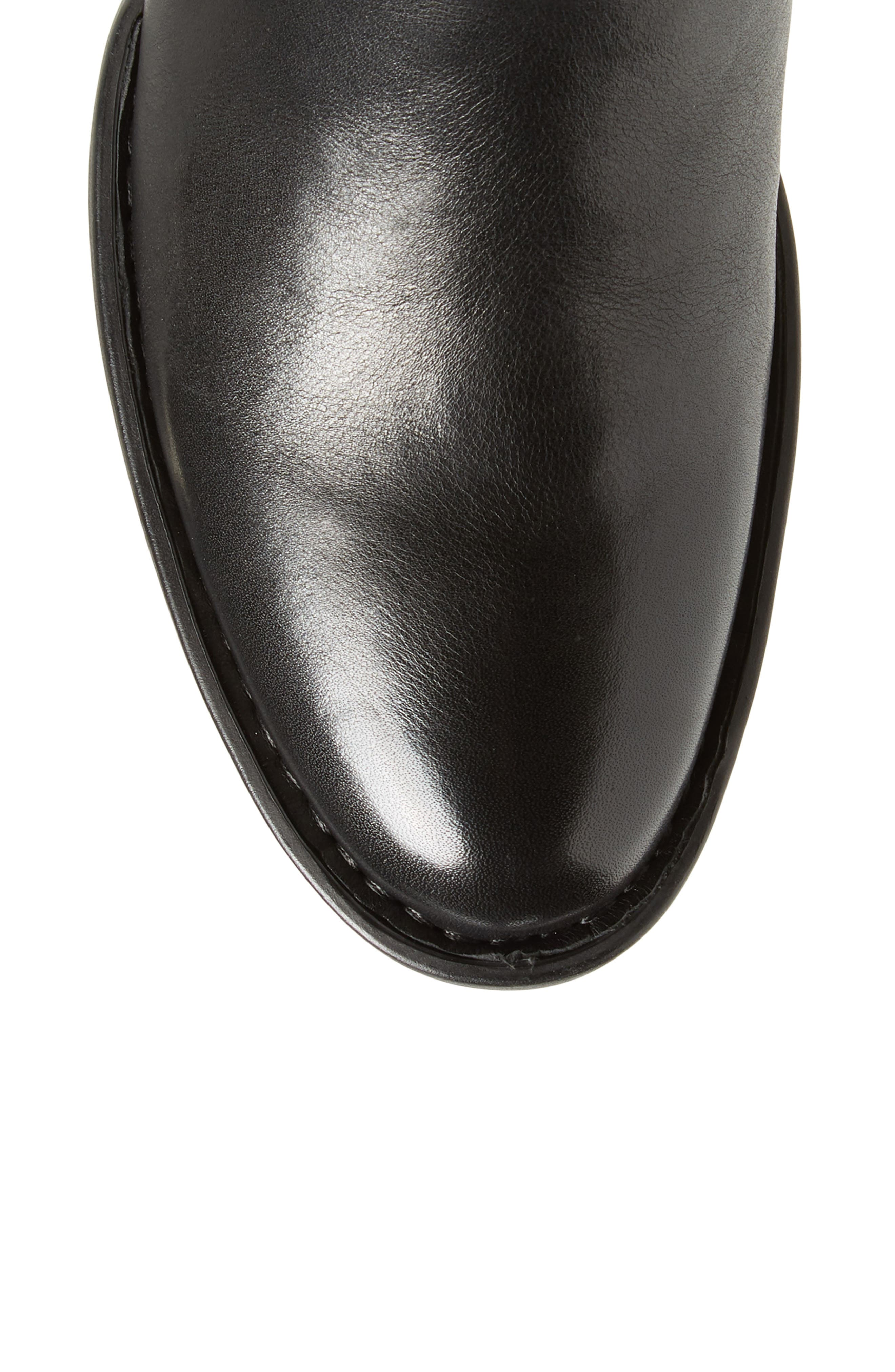 Gibb Knee High Riding Boot,                             Alternate thumbnail 5, color,                             BLACK LEATHER