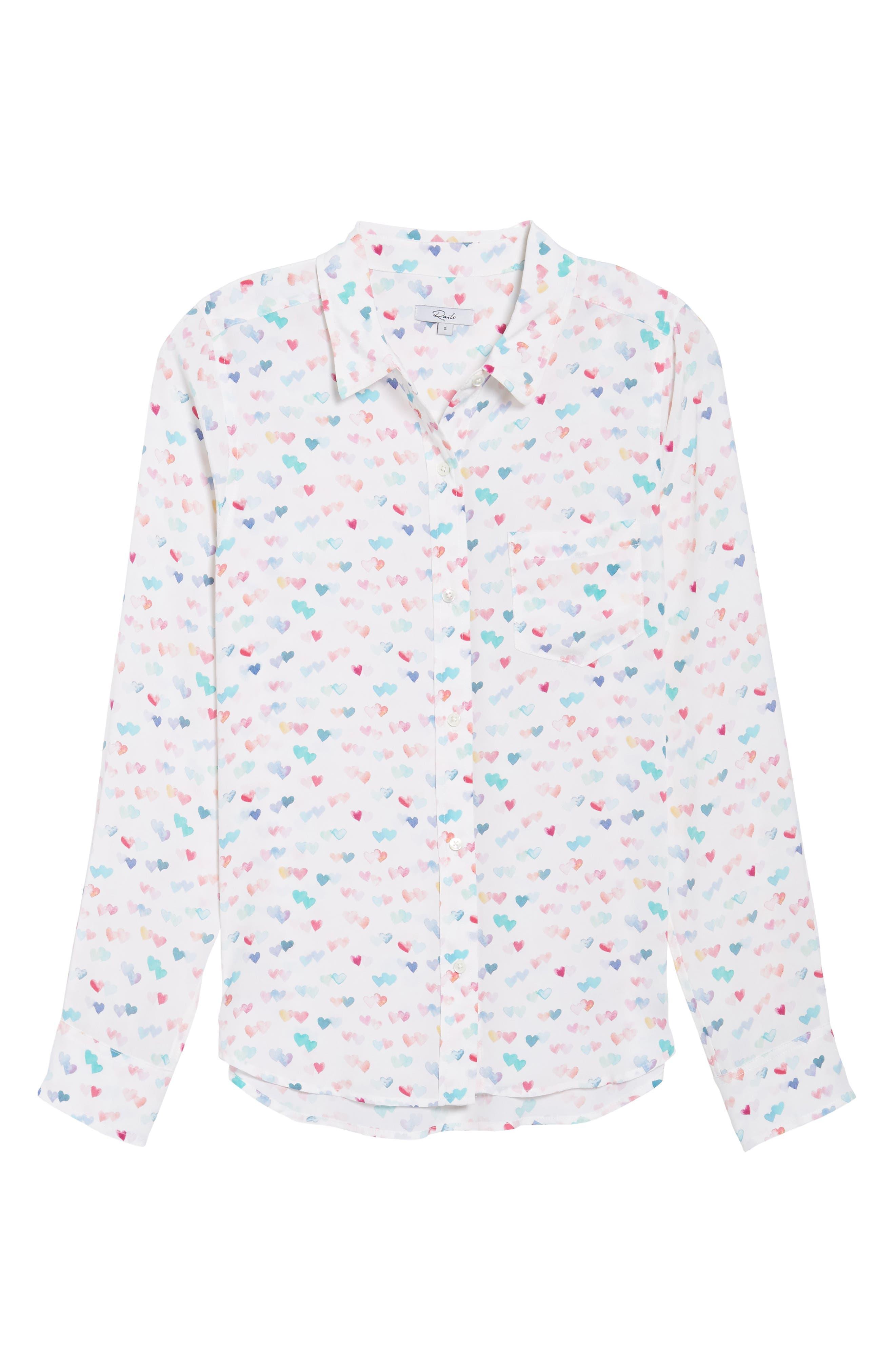 Kate Print Shirt,                             Alternate thumbnail 93, color,