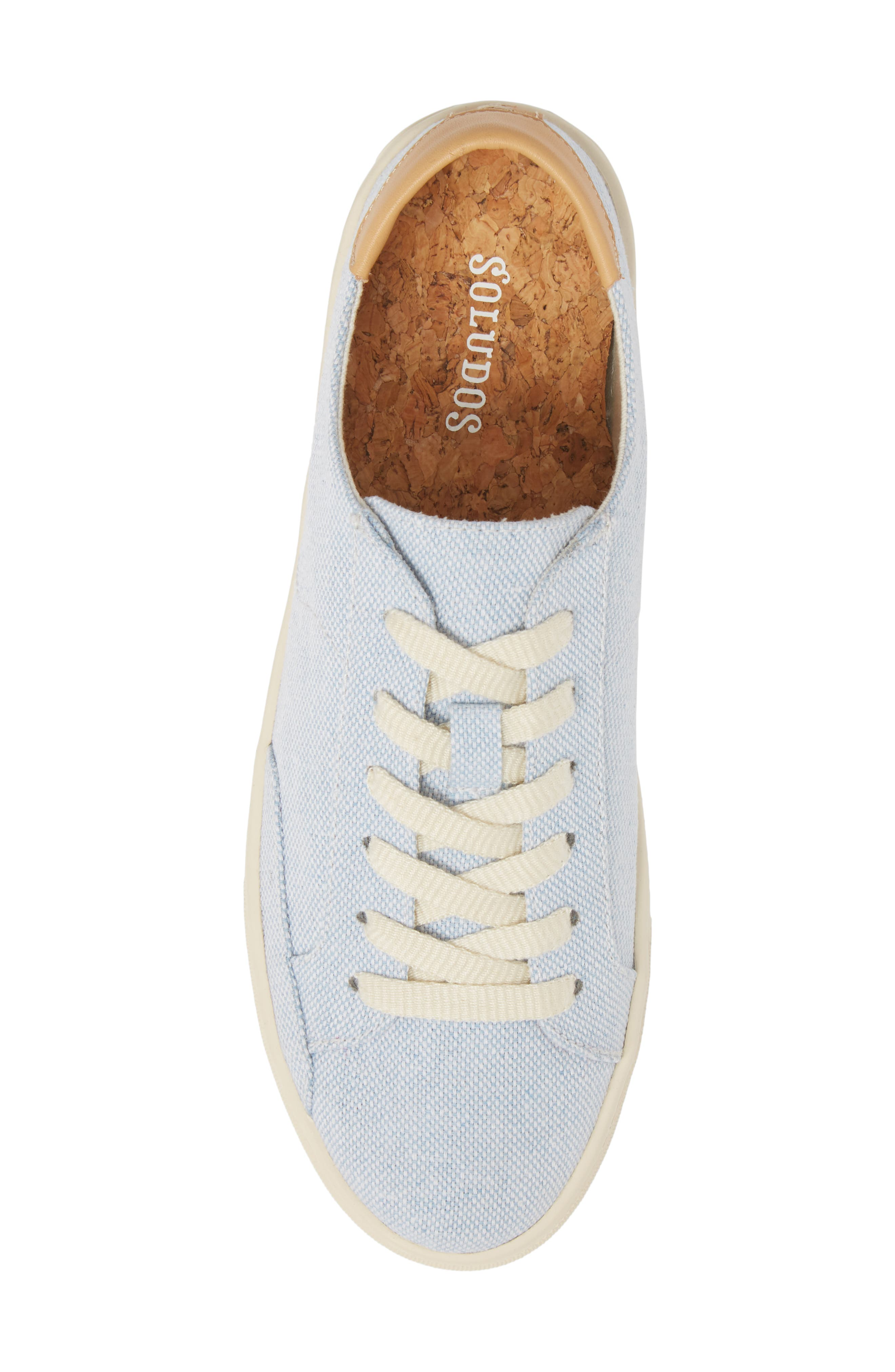 Ibiza Canvas Lace-Up Sneaker,                             Alternate thumbnail 5, color,                             SKY BLUE