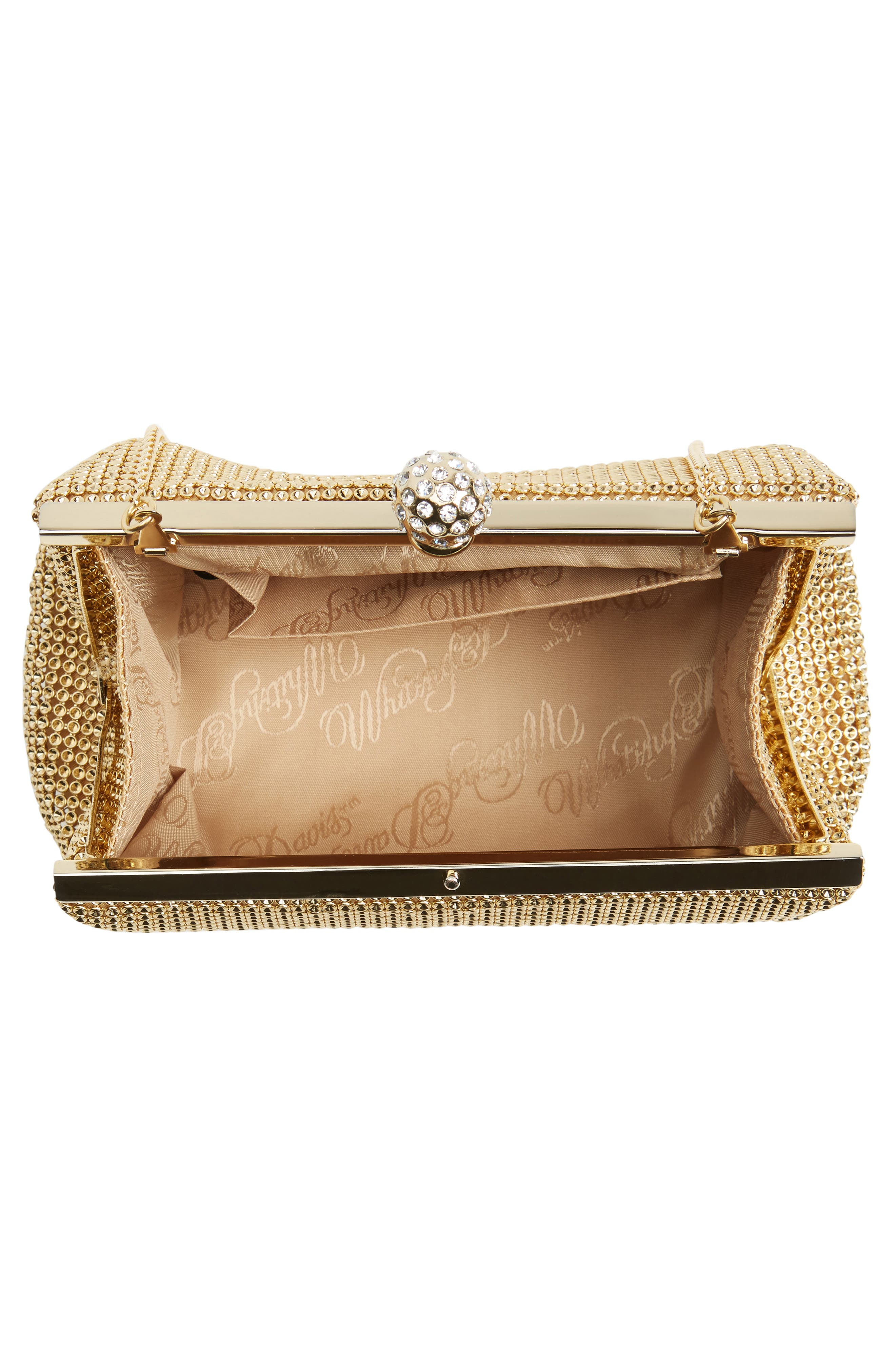 'Crystal' Mesh Clutch,                             Alternate thumbnail 4, color,                             GOLD