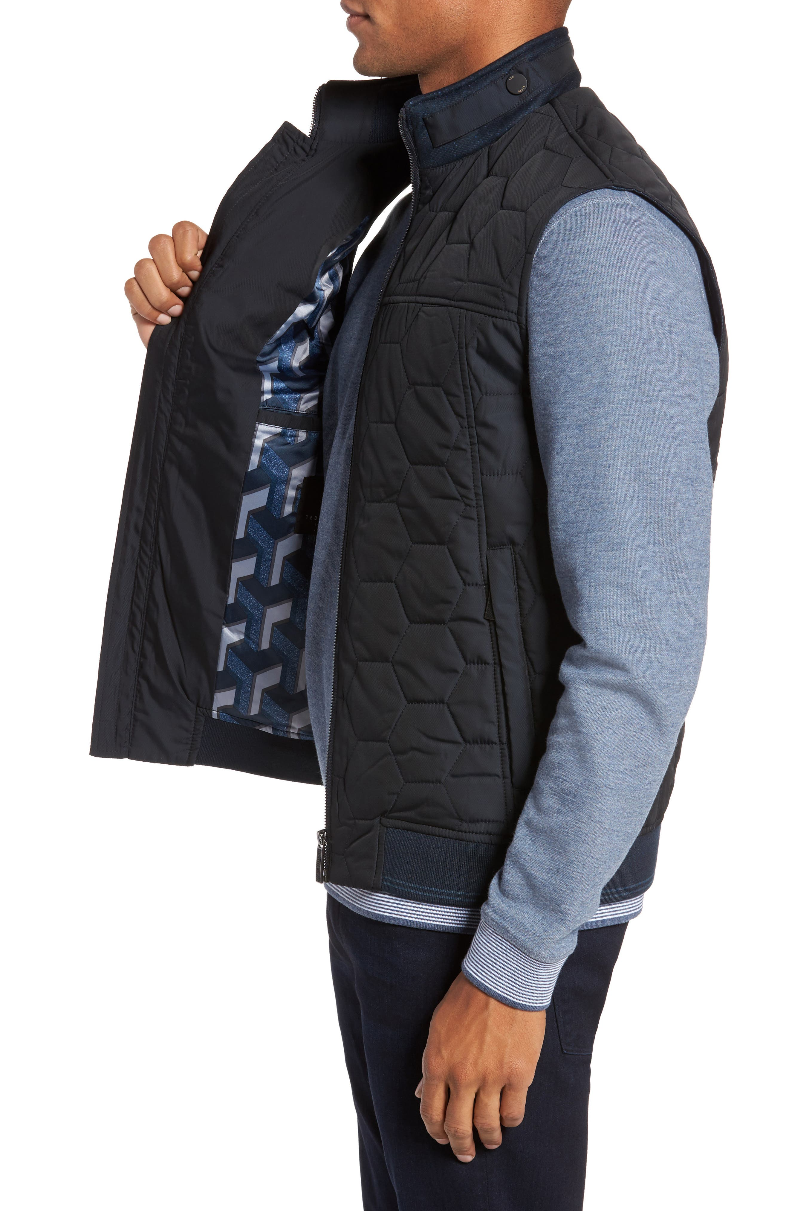 Ferny Quilted Vest,                             Alternate thumbnail 3, color,